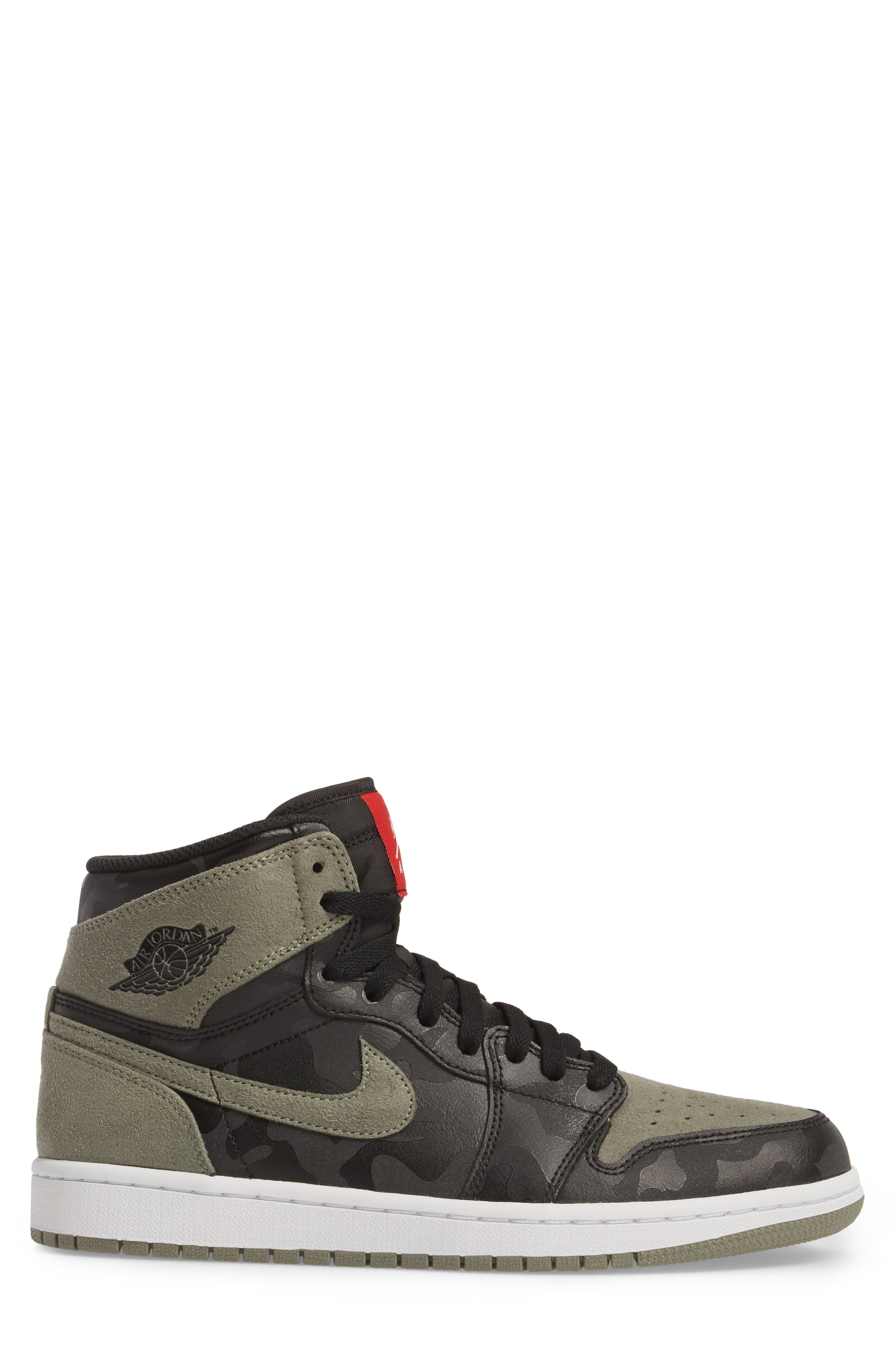 Air Jordan 1 Retro High Top Sneaker,                             Alternate thumbnail 3, color,                             Black/ Black