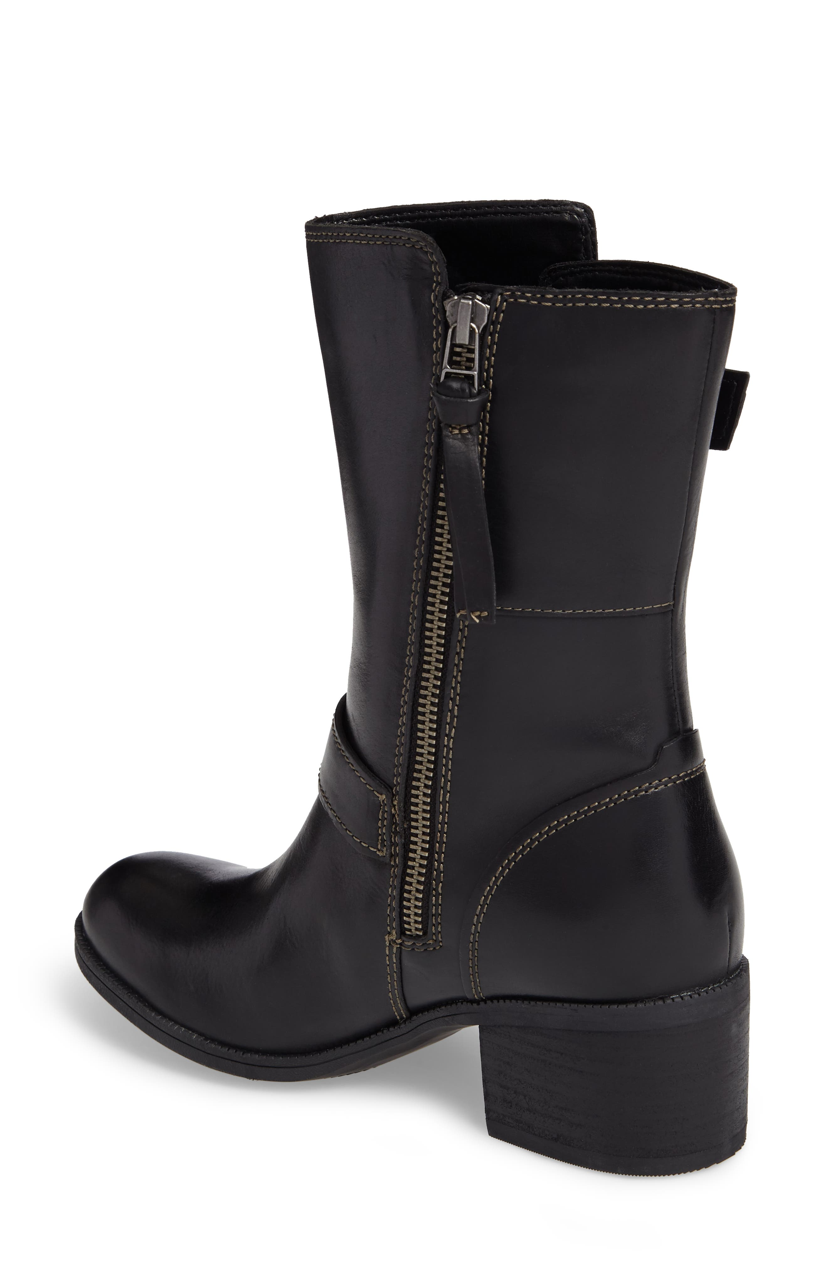 Maypearl Oasis Boot,                             Alternate thumbnail 2, color,                             Black Leather