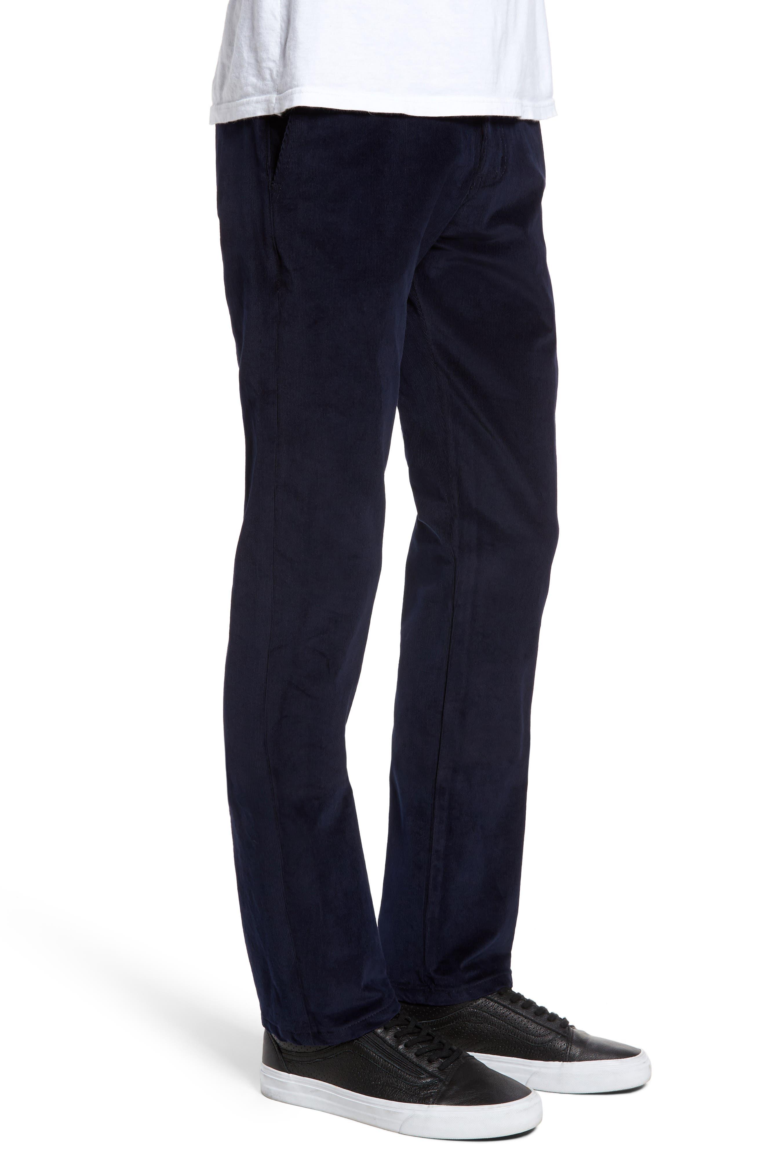 Slim Fit Corduroy Pants,                             Alternate thumbnail 3, color,                             Navy