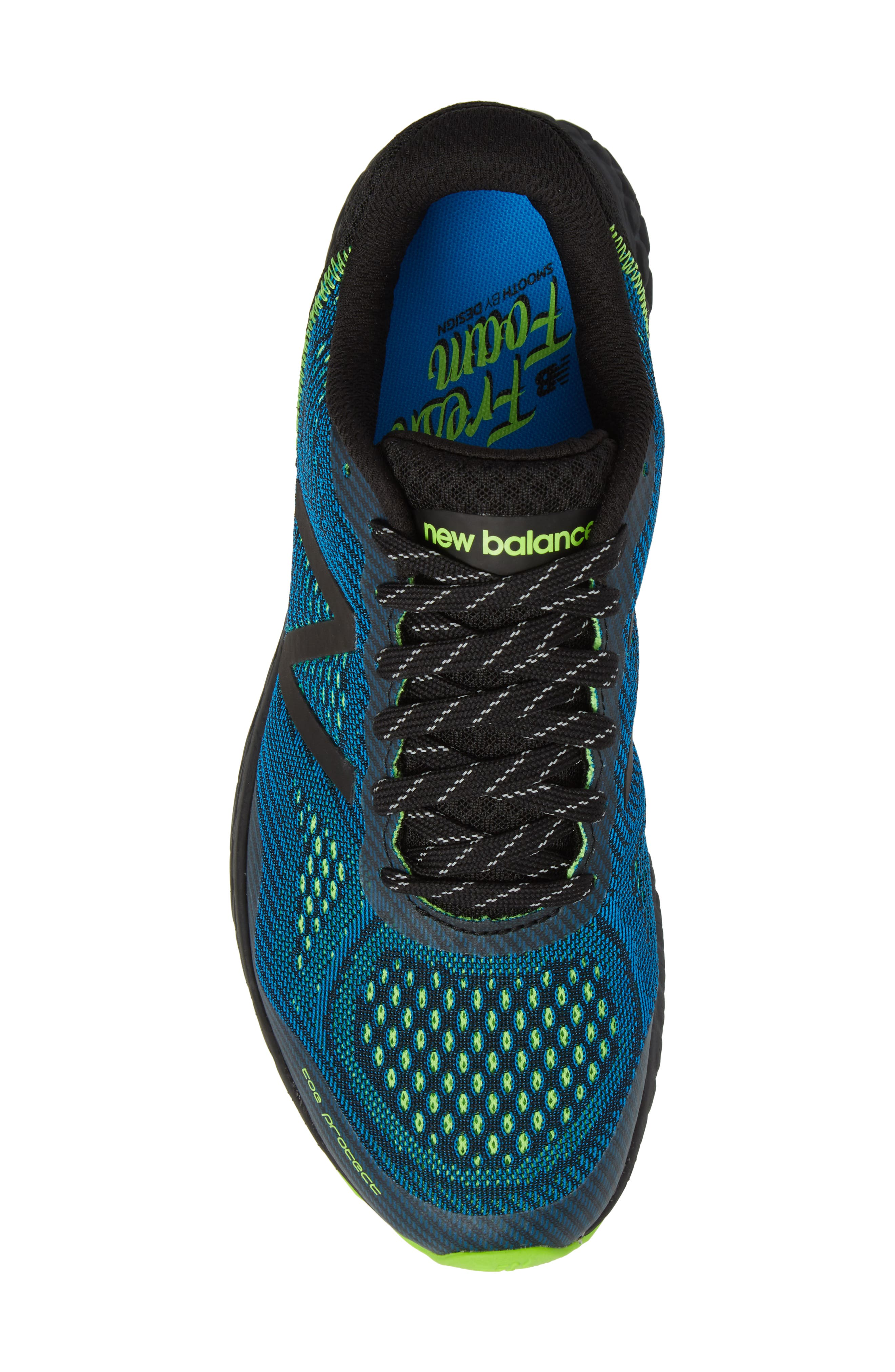 Fresh Foam Gobi V2 Trail Running Shoe,                             Alternate thumbnail 4, color,                             Black/ Blue