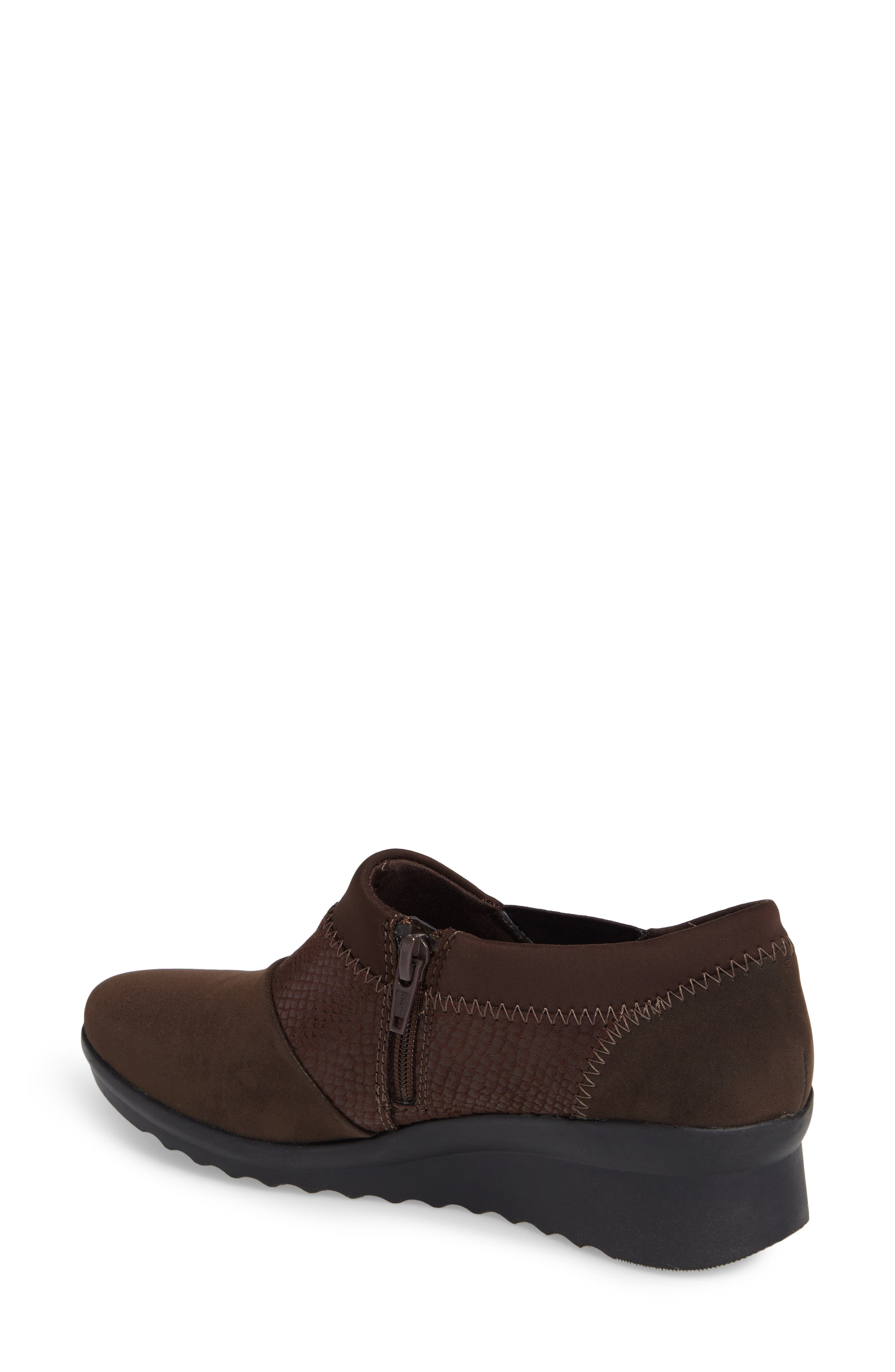 Caddell Denali Ankle Loafer,                             Alternate thumbnail 2, color,                             Brown Fabric