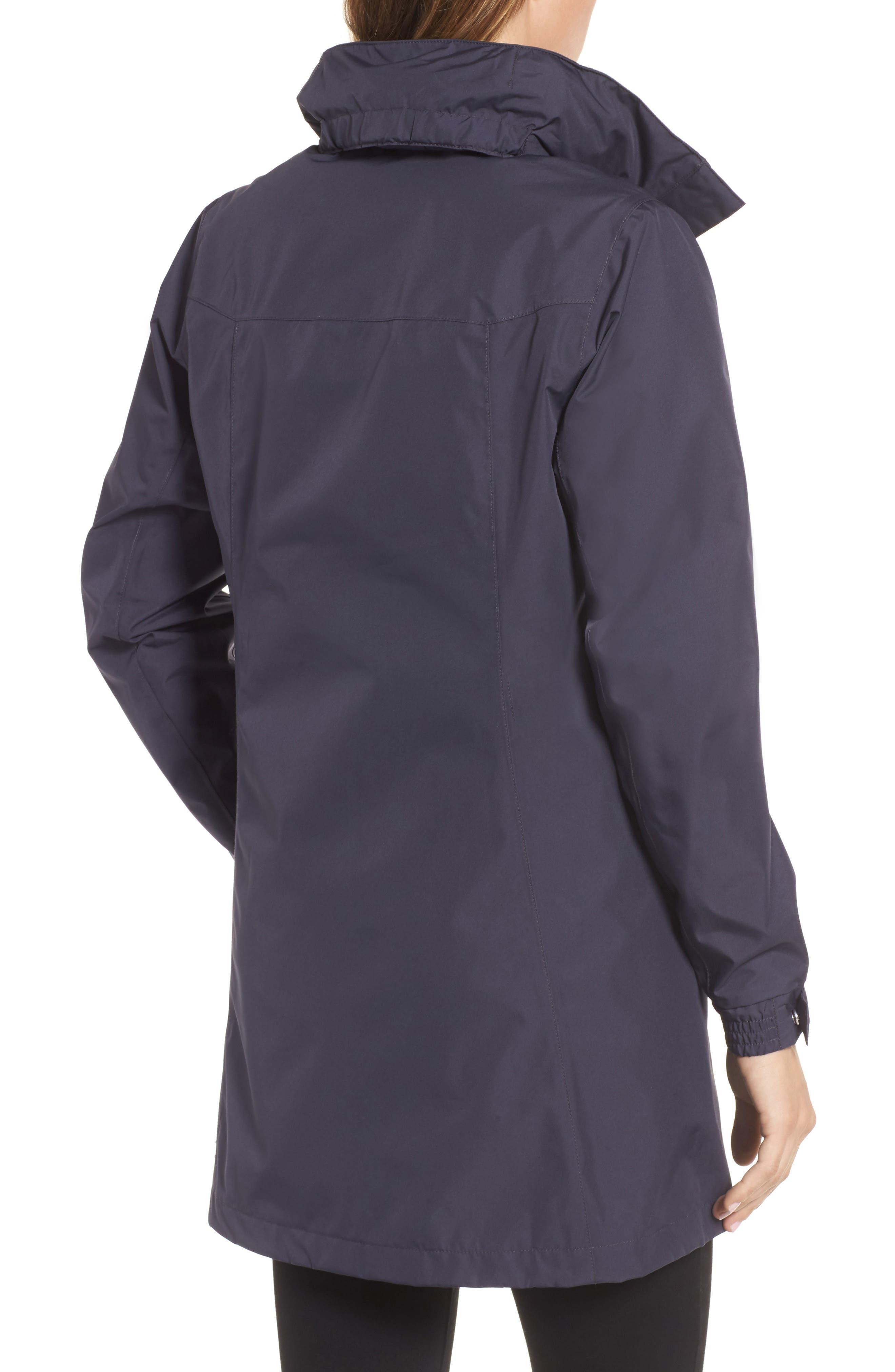 'Aden' Helly Tech<sup>®</sup> Raincoat,                             Alternate thumbnail 2, color,                             Graphite Blue