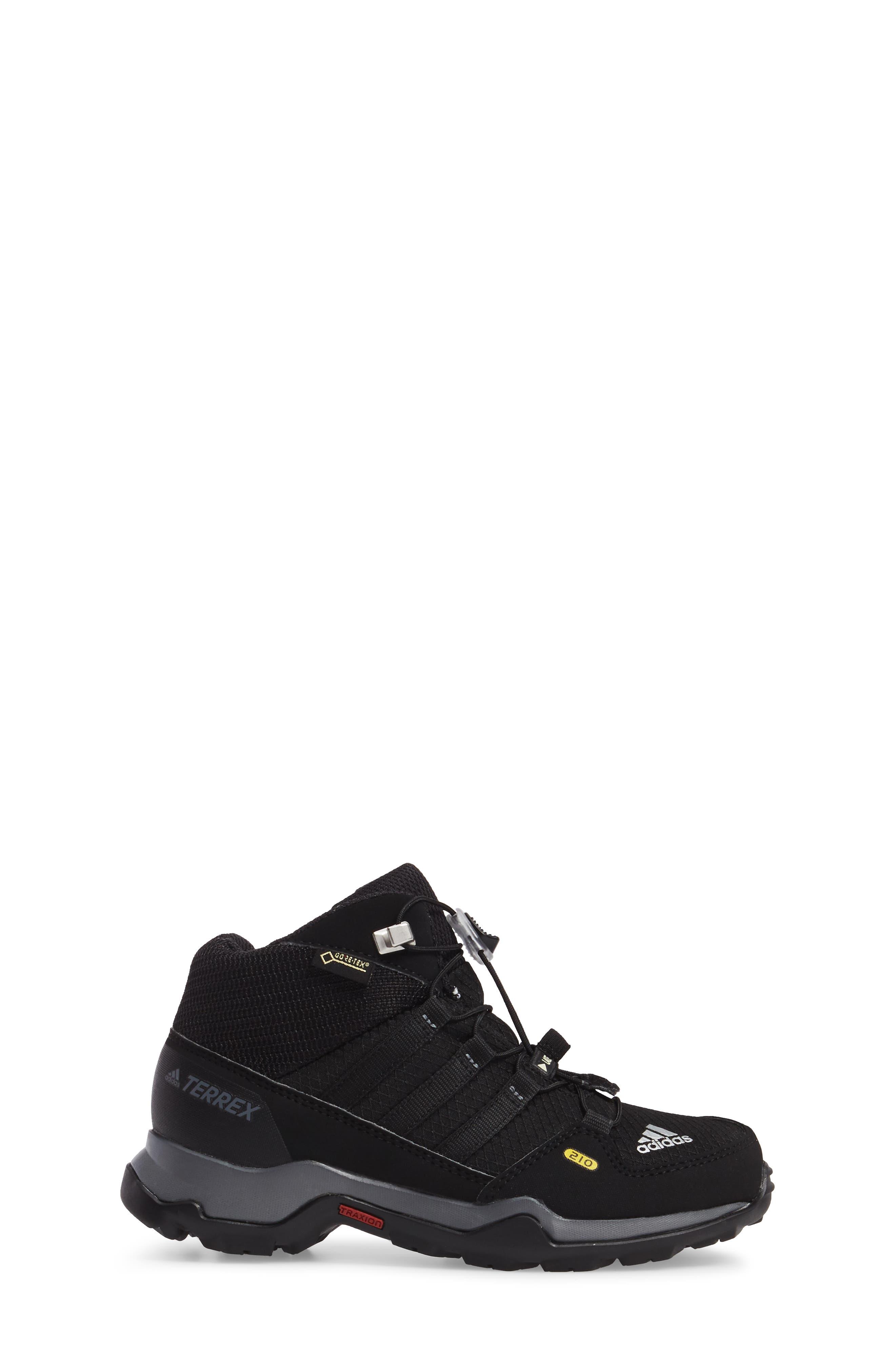 Terrex Mid Gore-Tex<sup>®</sup> Insulated Waterproof Sneaker Boot,                             Alternate thumbnail 3, color,                             Black/ Black/ Vista Grey