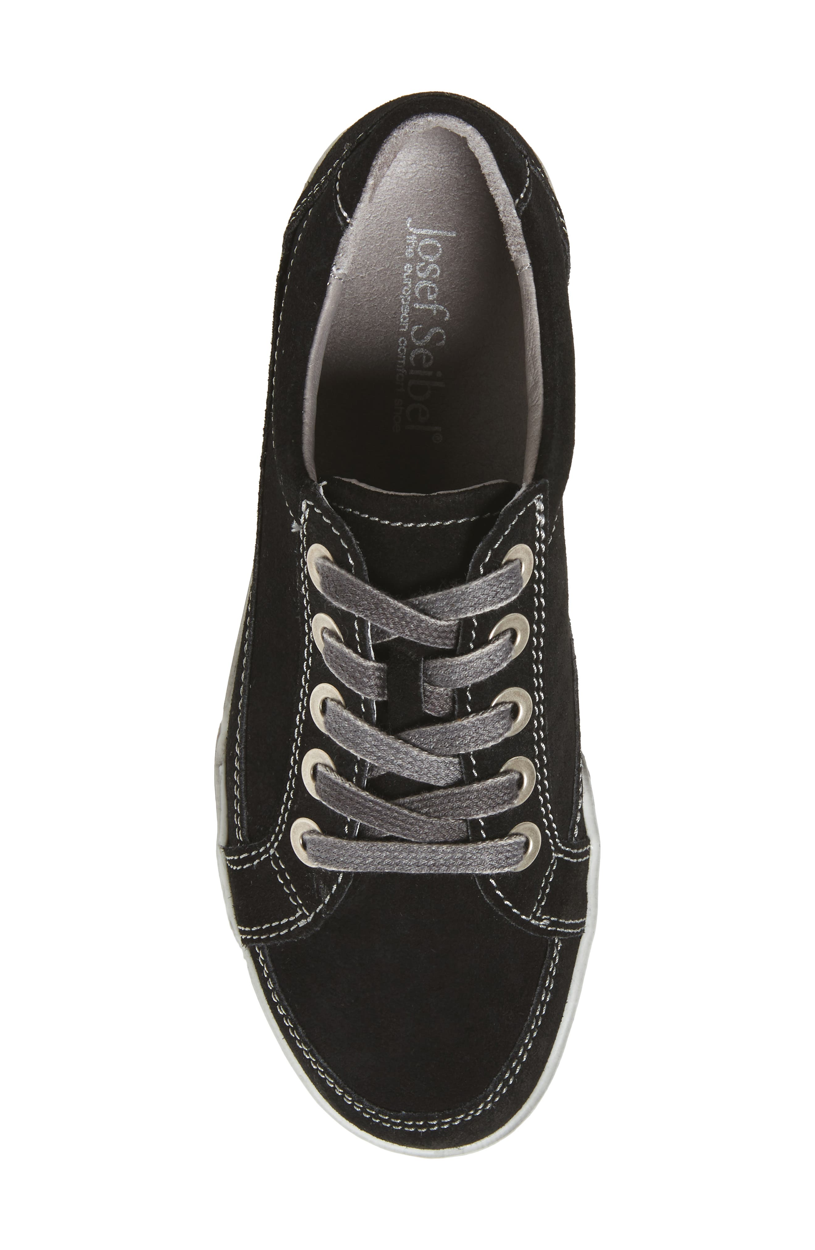 Dany 57 Sneaker,                             Alternate thumbnail 4, color,                             Black Leather
