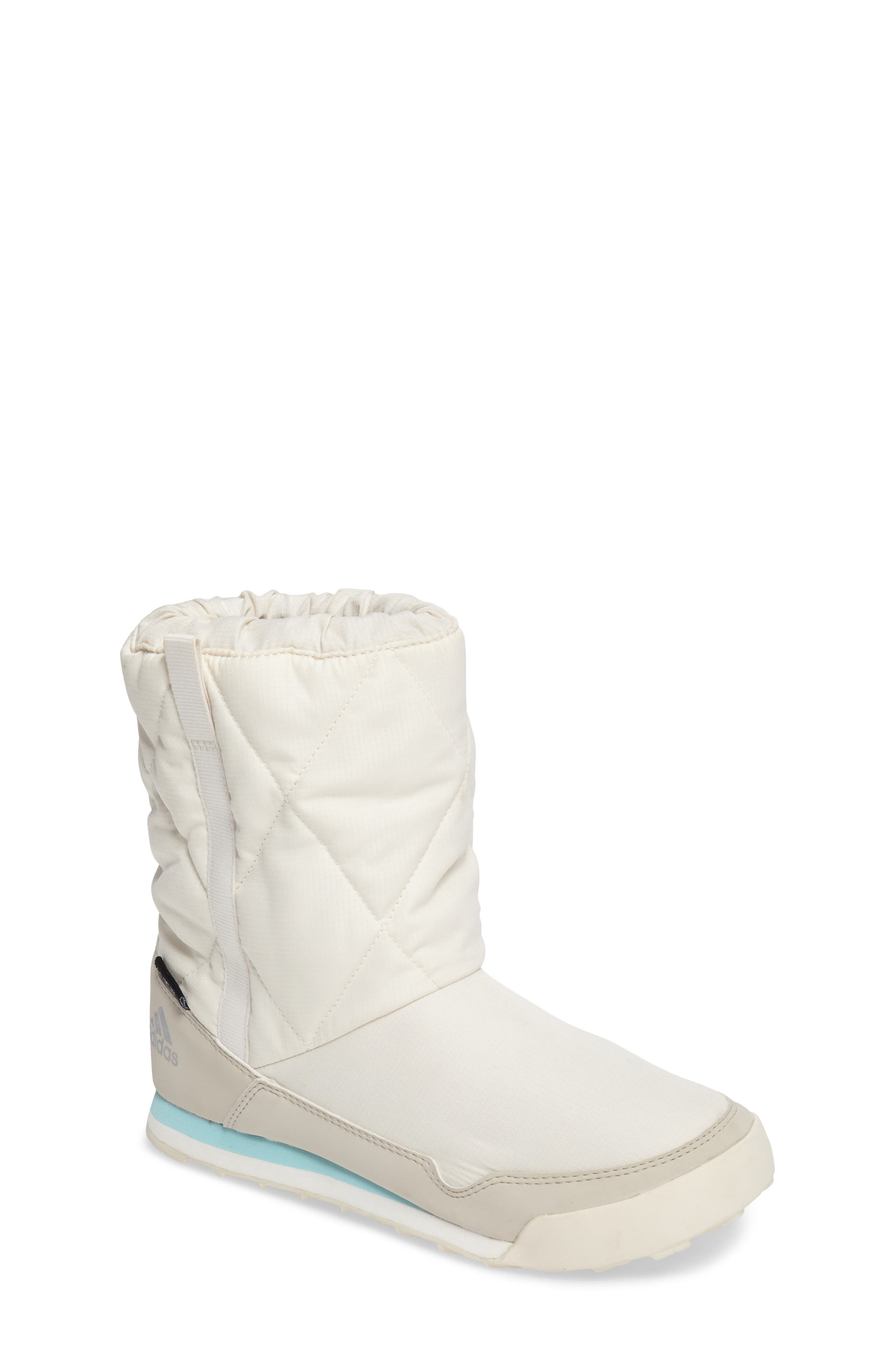 CW Snowpitch Insulated Waterproof Boot,                         Main,                         color, Chalk White/ Clear Brown/ Aqua