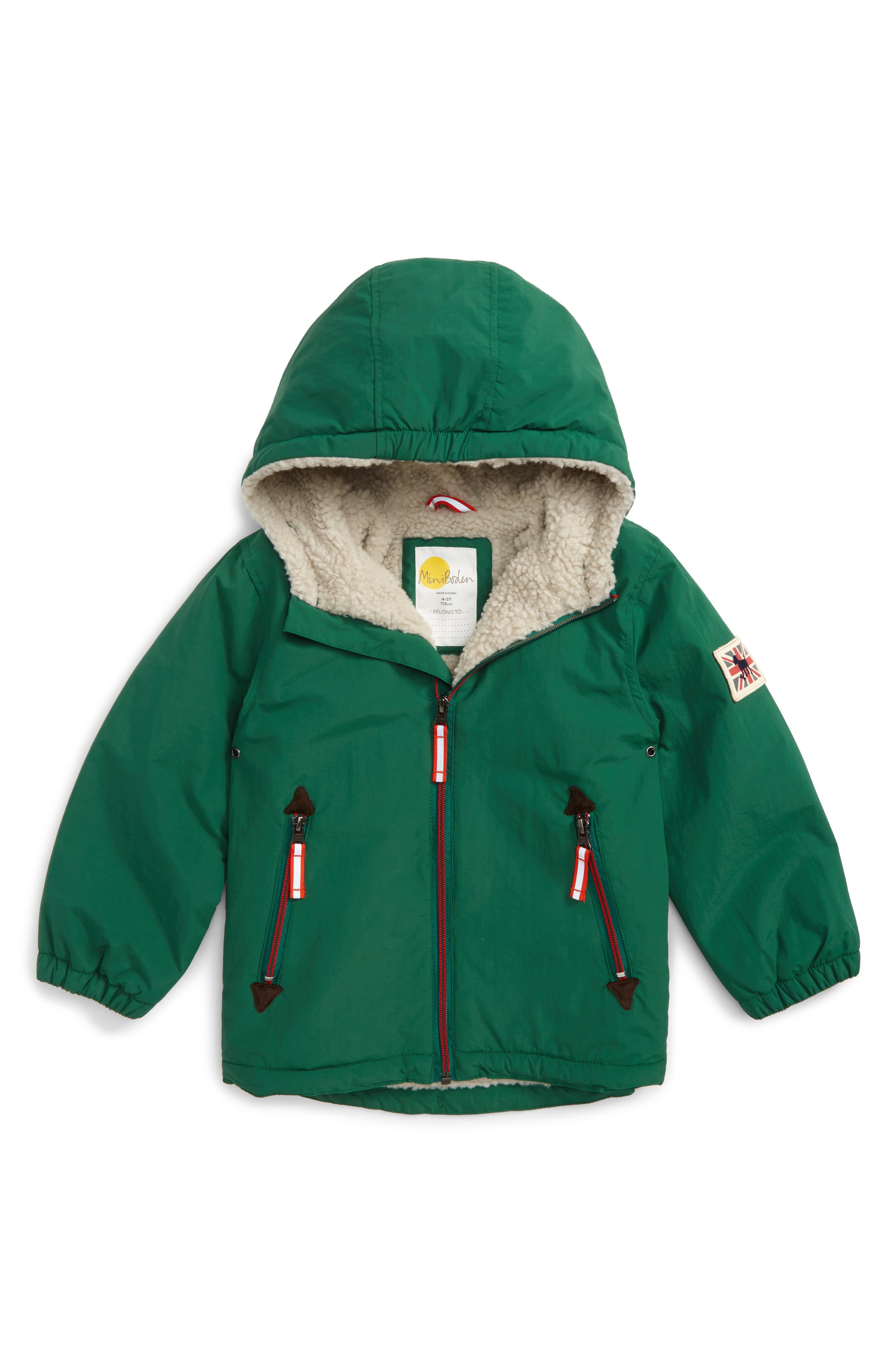 Hooded Anorak,                             Main thumbnail 1, color,                             Timber Green Fox