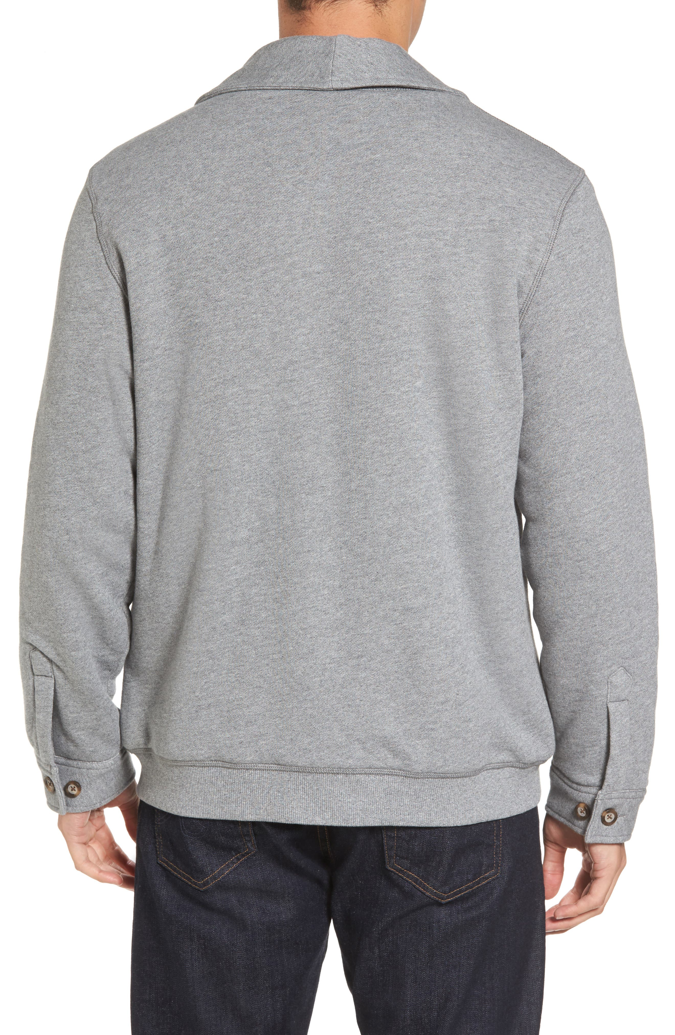 Alternate Image 2  - UGG® Faux Shearling Lined Shawl Collar Cardigan