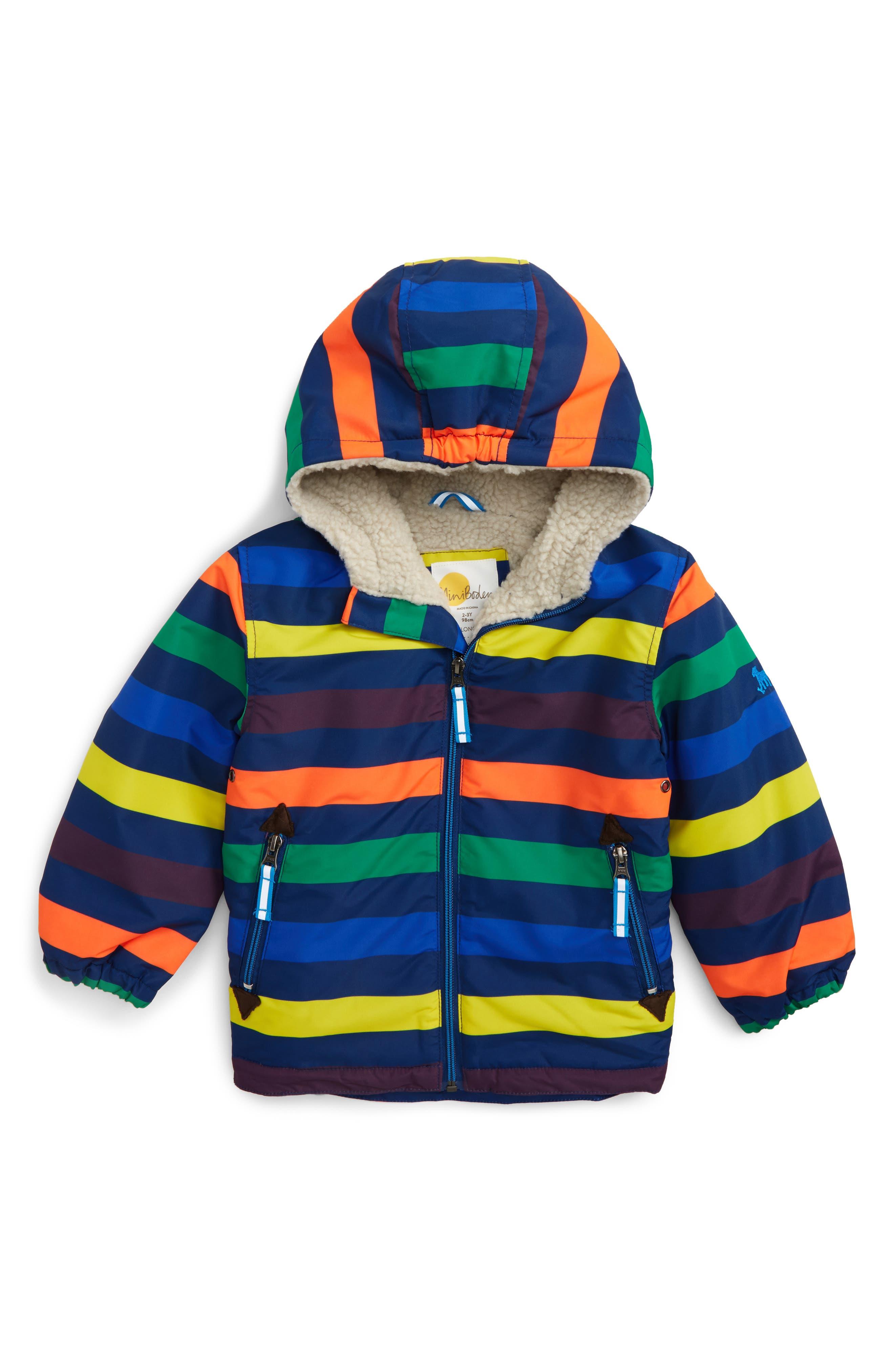 Alternate Image 1 Selected - Mini Boden Hooded Anorak (Toddler Boys, Little Boys & Big Boys)