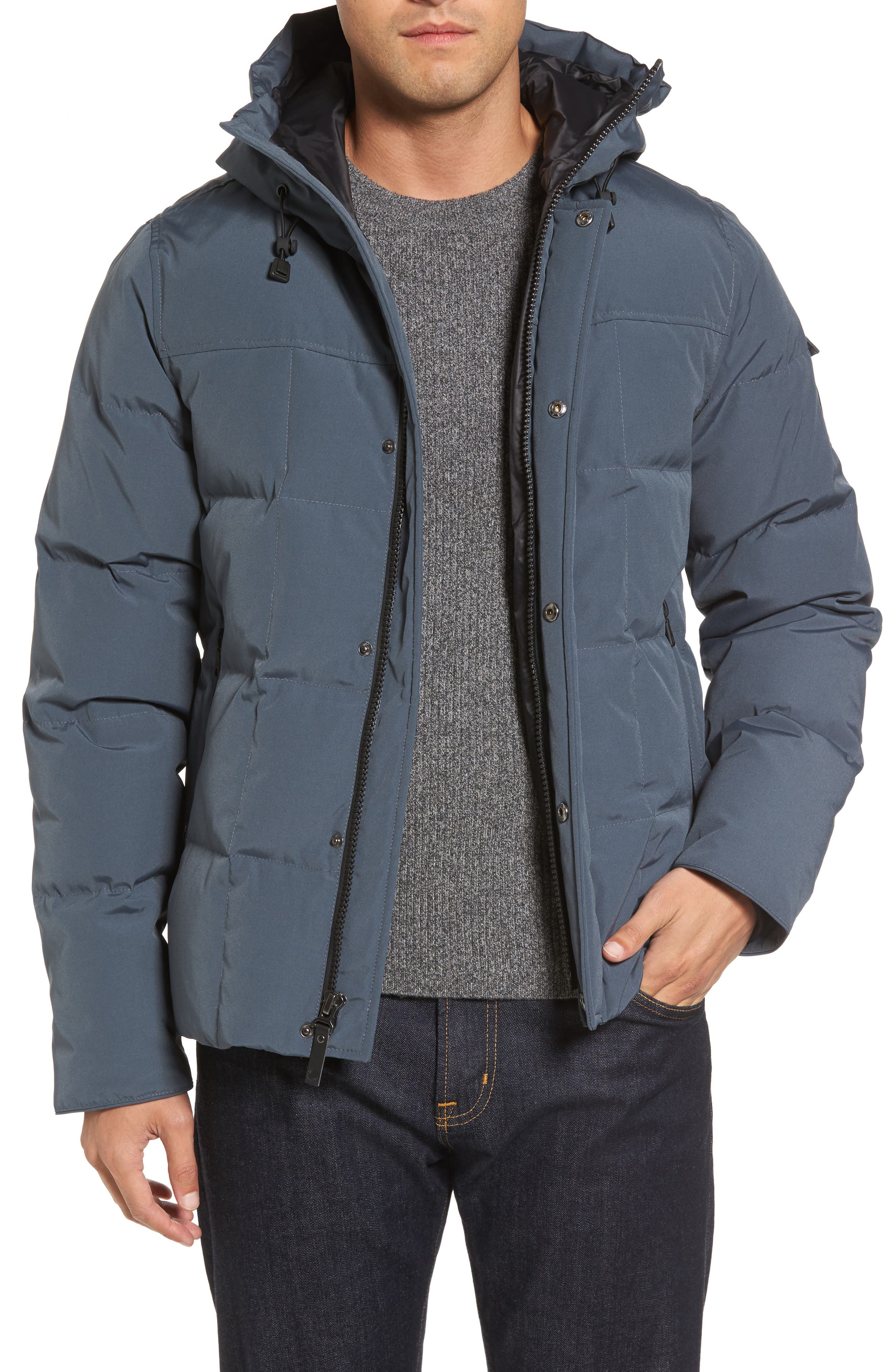 Technical Water Resistant Down Parka,                         Main,                         color, Slate