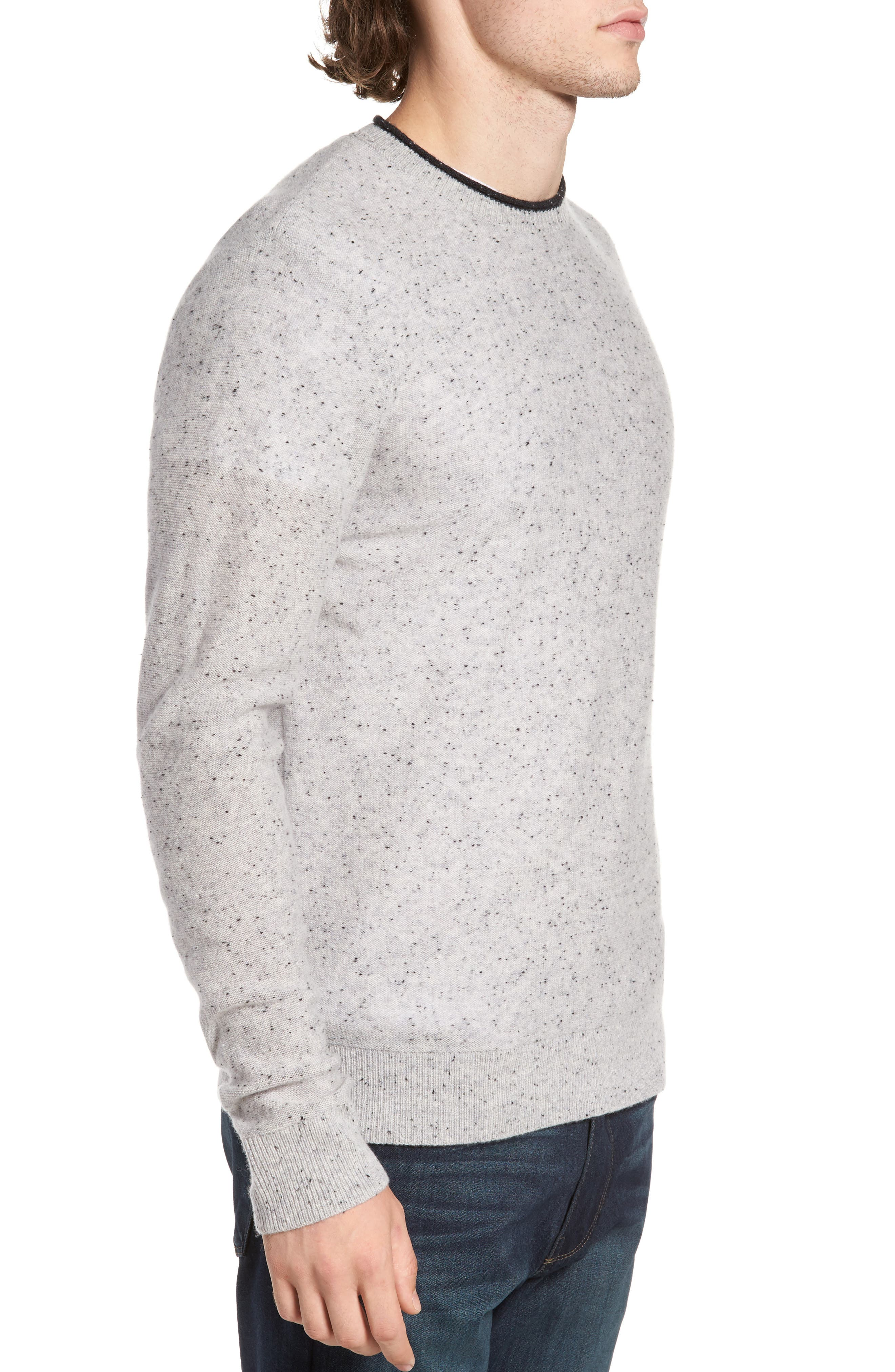 Nep Wool & Cashmere Sweater,                             Alternate thumbnail 3, color,                             Grey Donegal