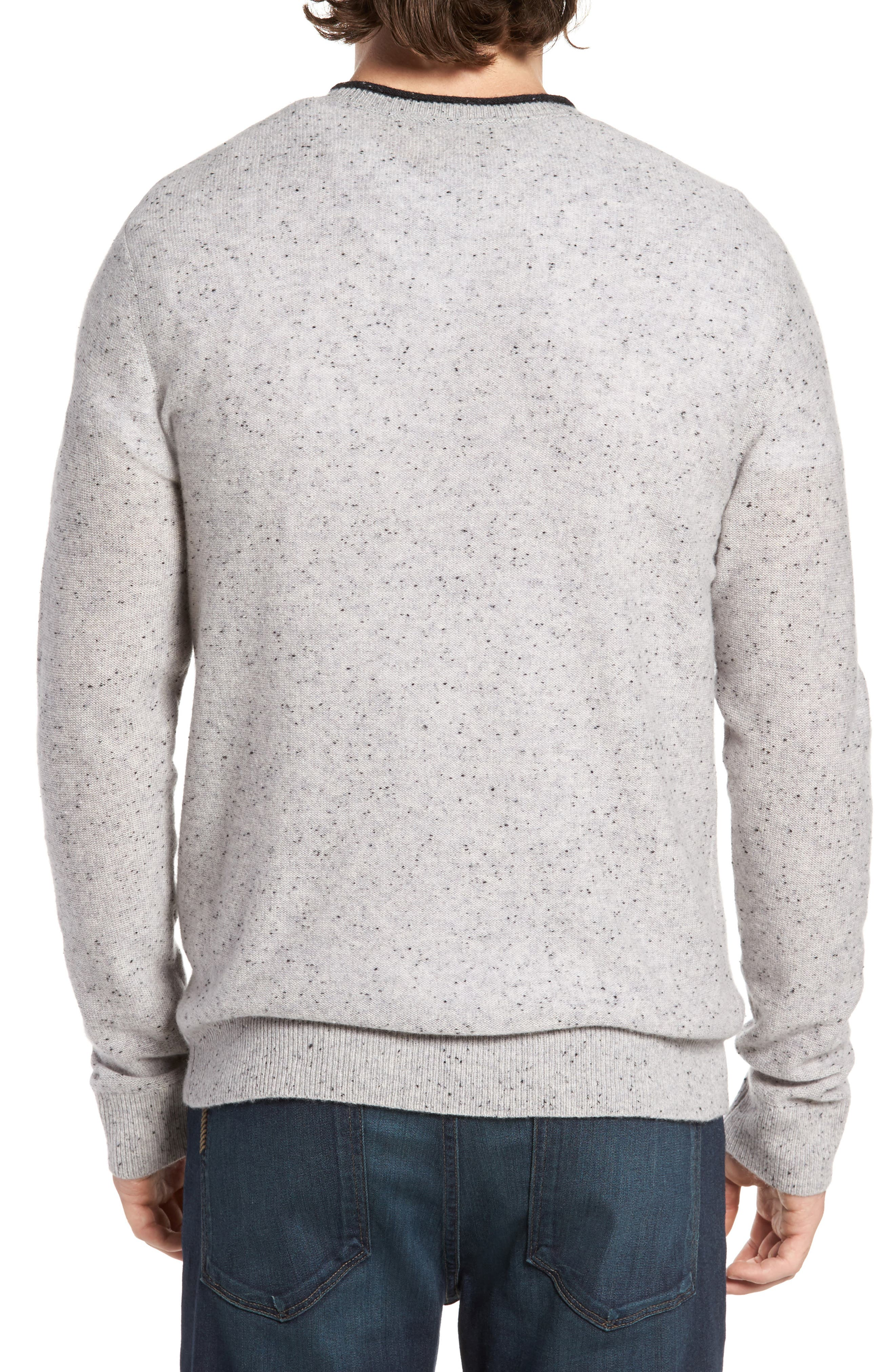 Nep Wool & Cashmere Sweater,                             Alternate thumbnail 2, color,                             Grey Donegal