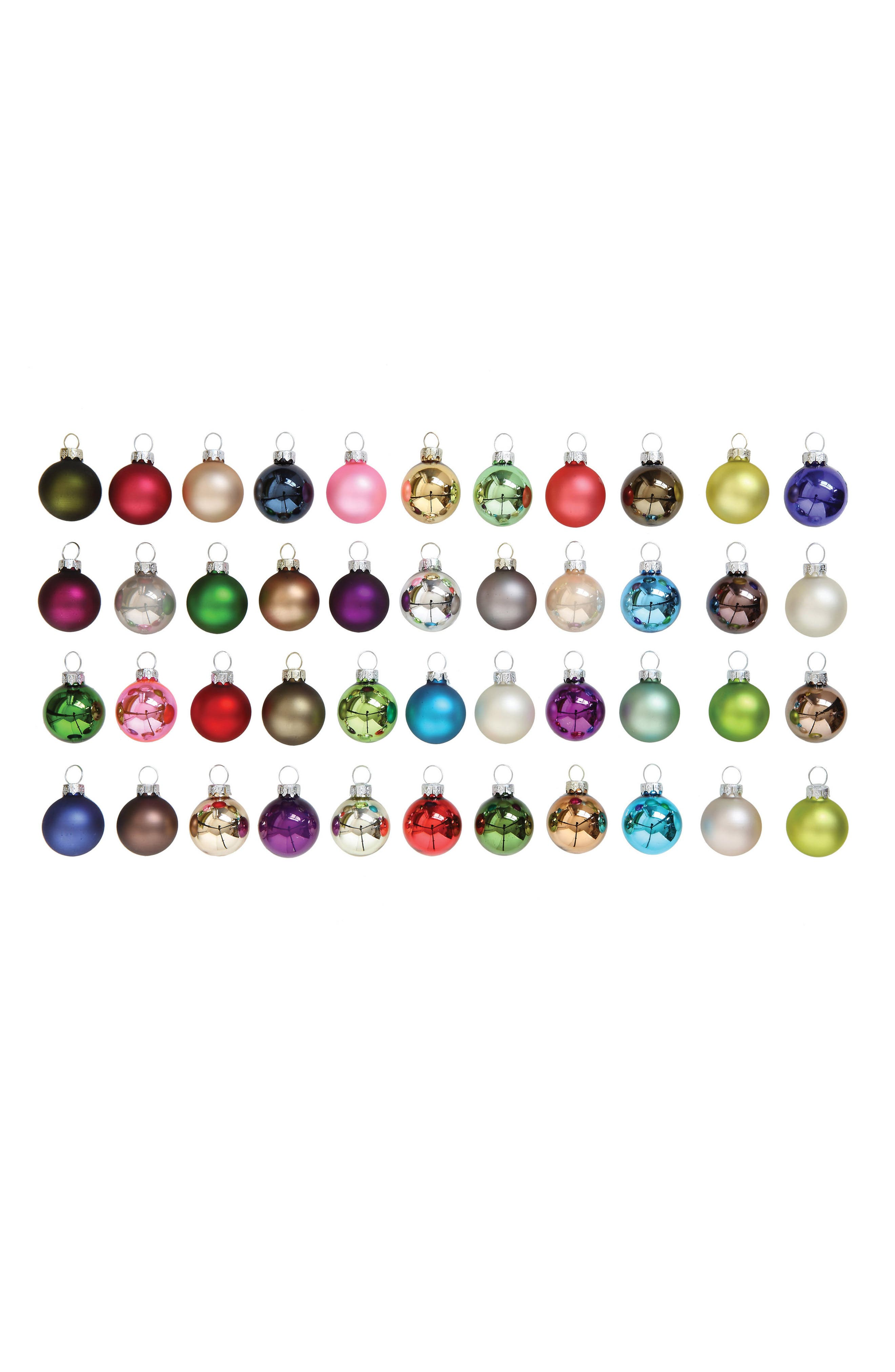 Creative Co-Op Set of 54 Glass Ornaments