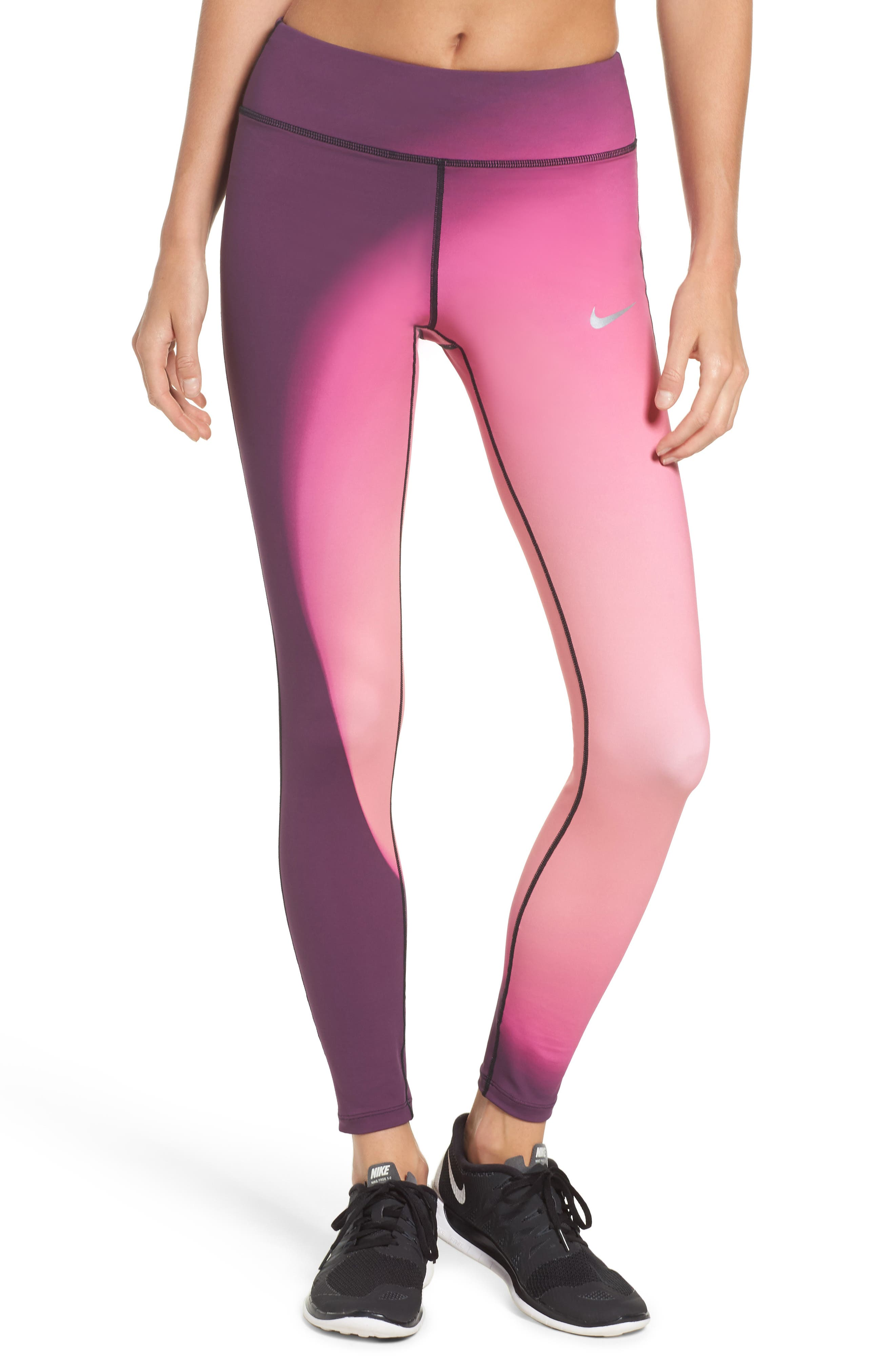 Power Epic Lux 2.0 Running Tights,                             Main thumbnail 1, color,                             Bordeaux