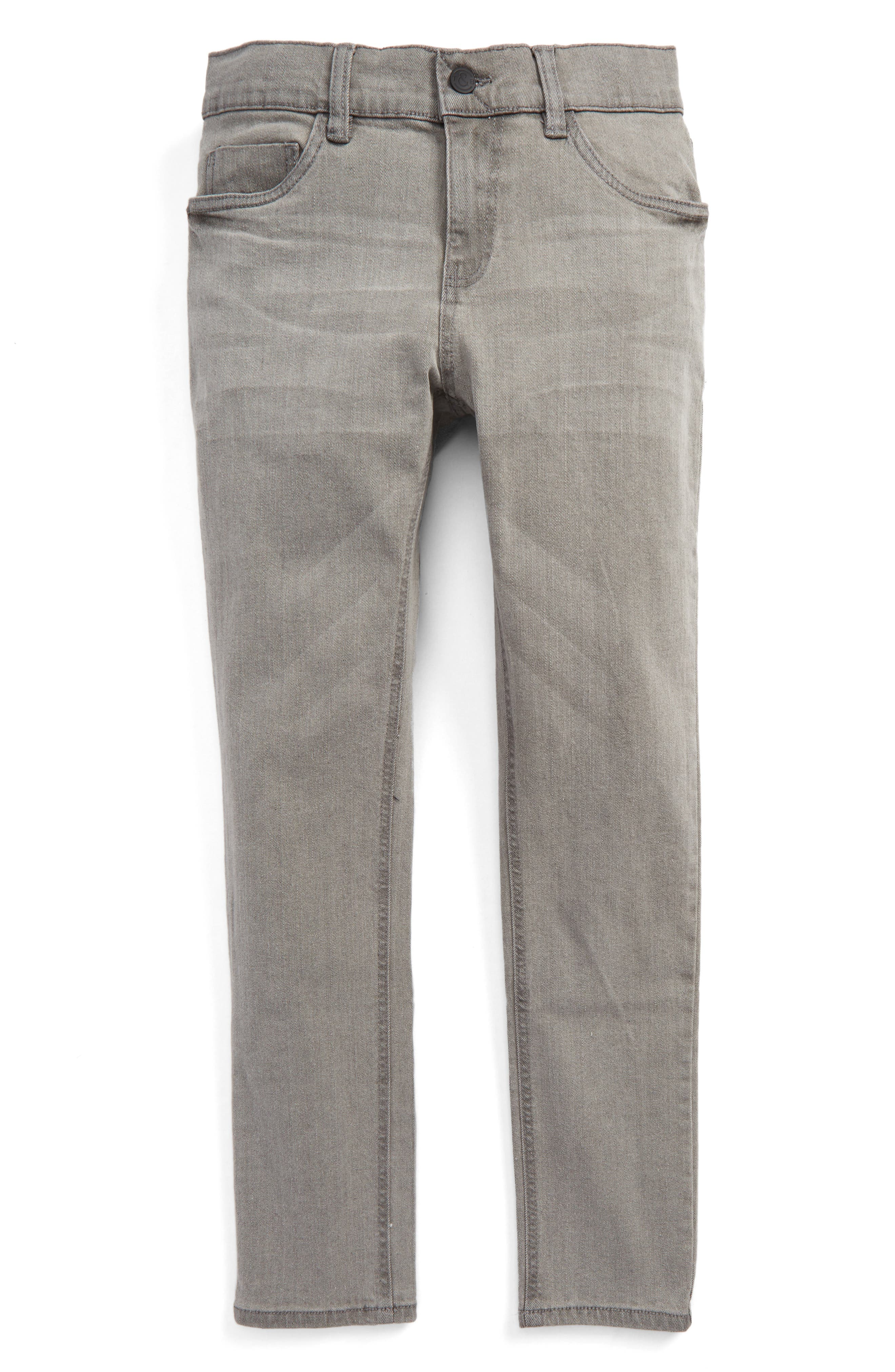 Slouch Skinny Jeans,                         Main,                         color, Cool Grey Wash