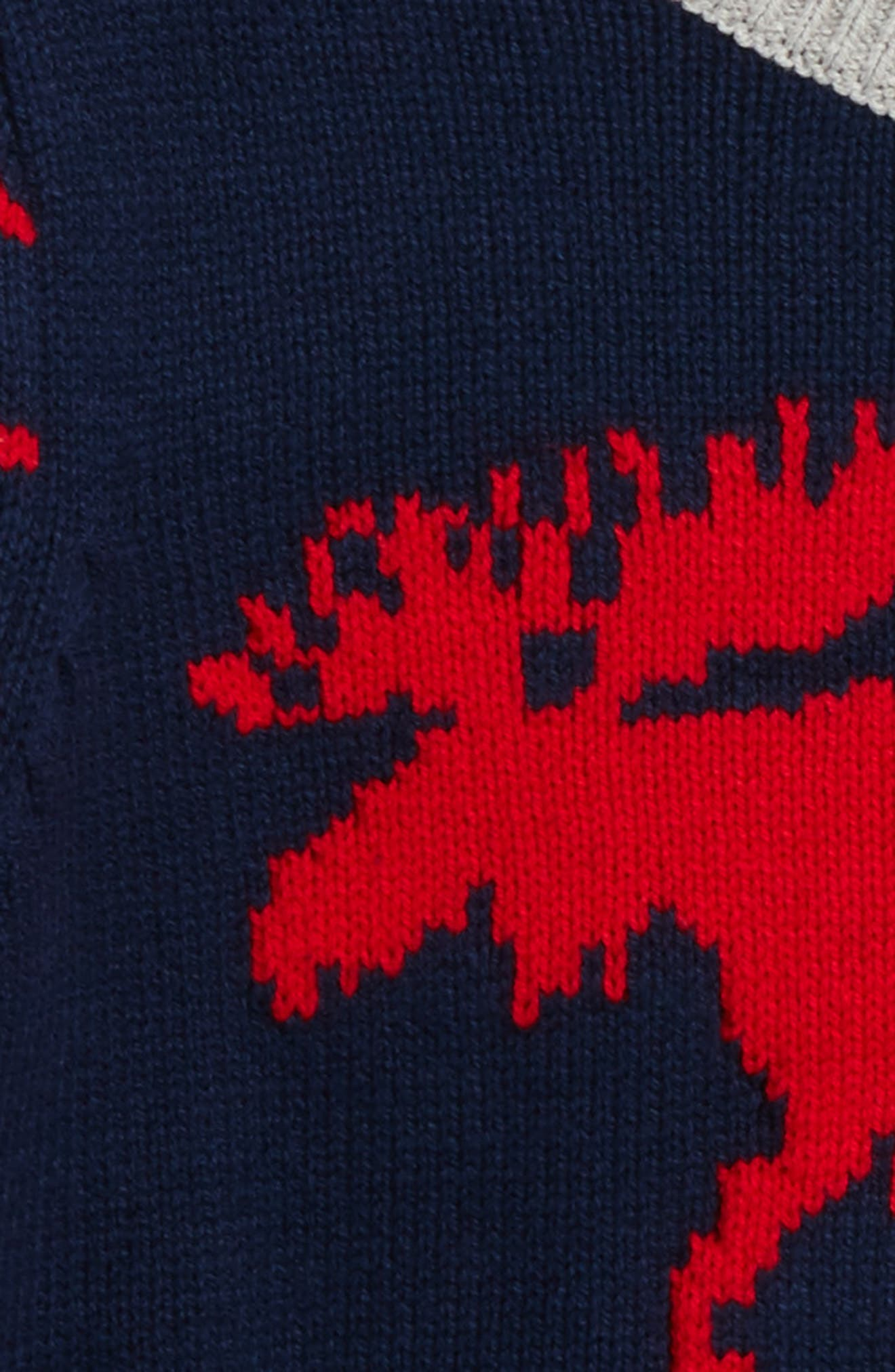 V-Neck Sweater,                             Alternate thumbnail 2, color,                             Classic Moose