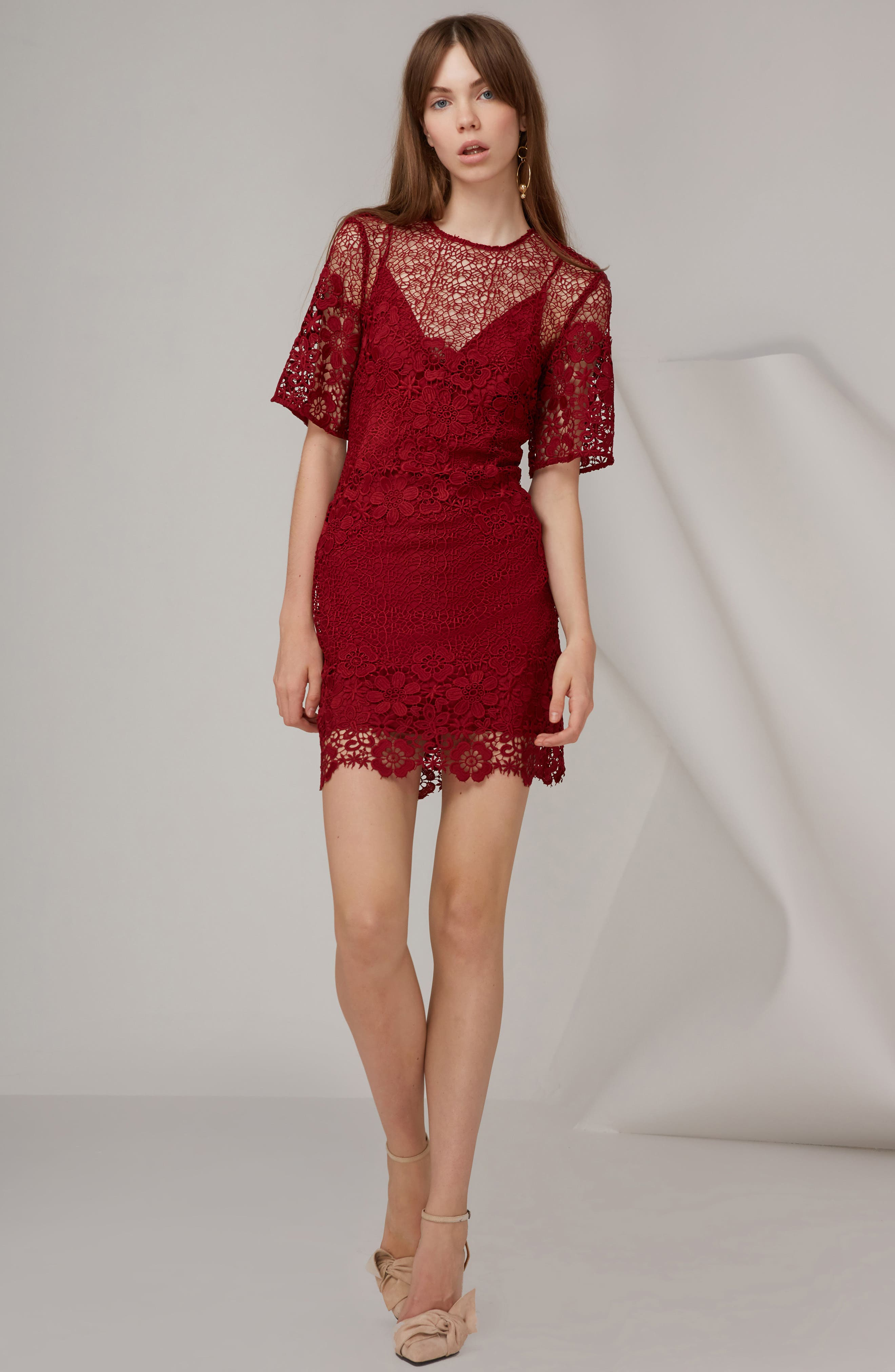 Alternate Image 2  - Keepsake the Label Reach Out Lace Body-Con Dress