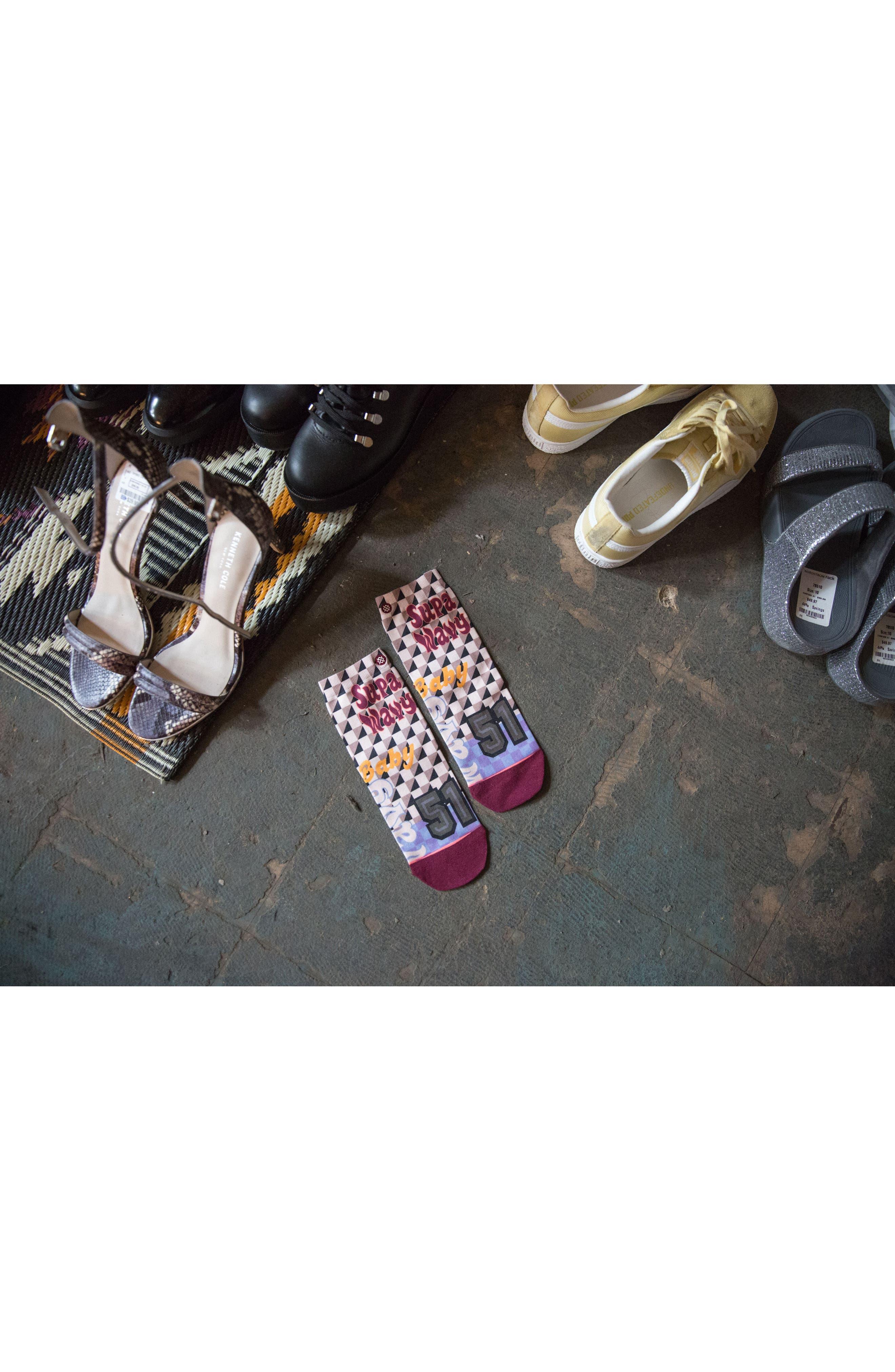 Lowrider Supa Wavy Socks,                             Alternate thumbnail 4, color,                             White Multi
