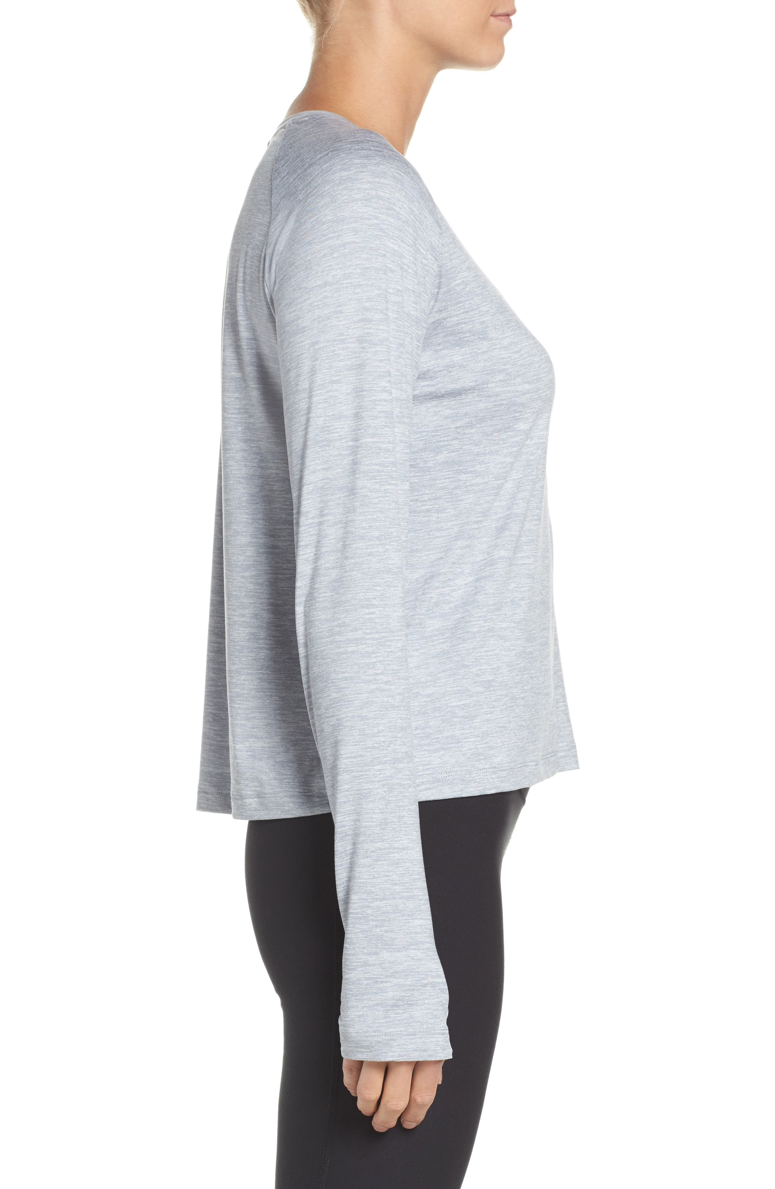 Dry Element Crop Top,                             Alternate thumbnail 3, color,                             Wolf Grey/ Heather