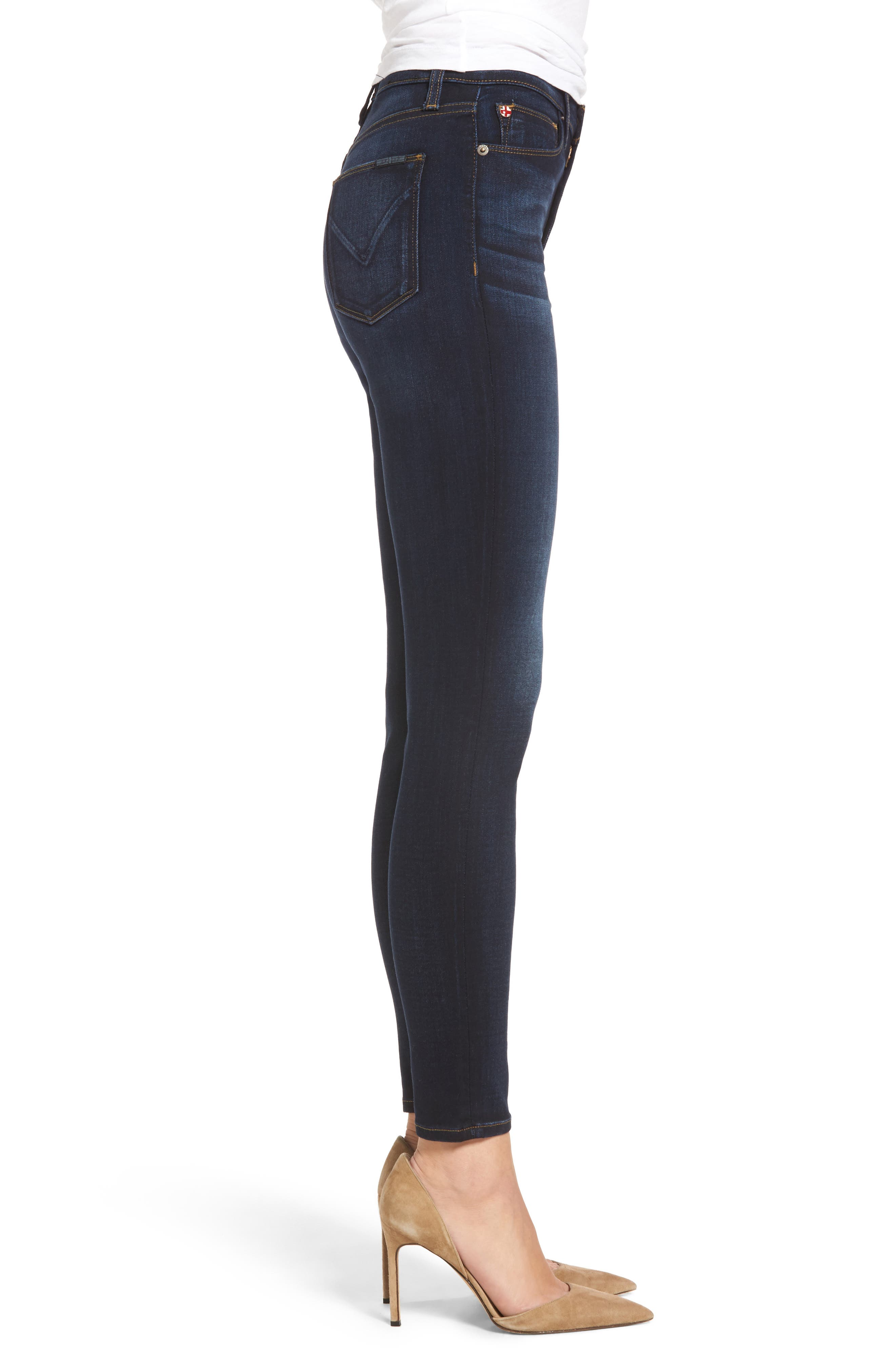 Barbara High Waist Super Skinny Jeans,                             Alternate thumbnail 3, color,                             Calvary