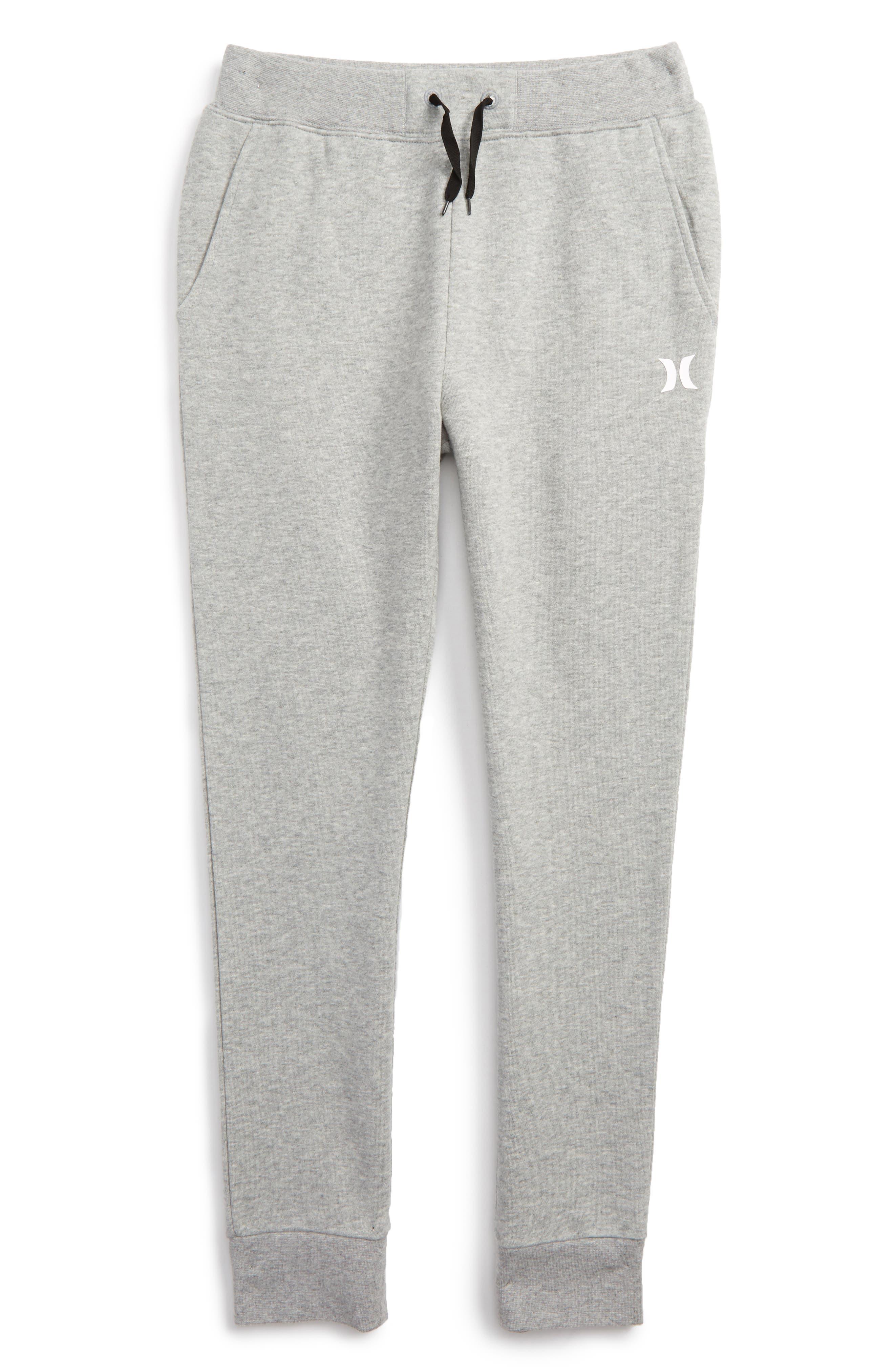 Core Fleece Pants,                         Main,                         color, Dark Grey Heather