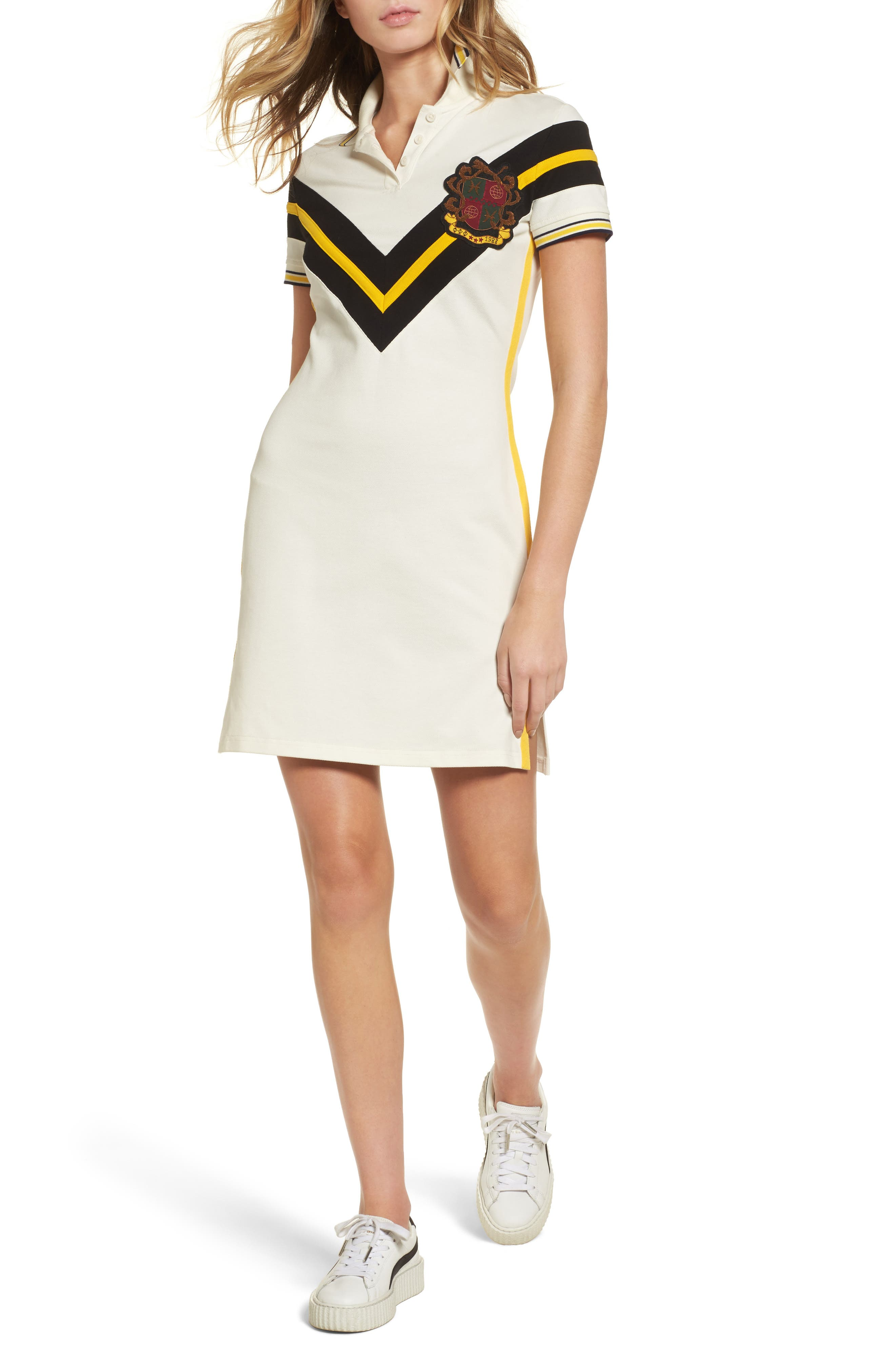 FENTY PUMA by Rihanna Jersey Polo Dress,                         Main,                         color, Vanilla Ice