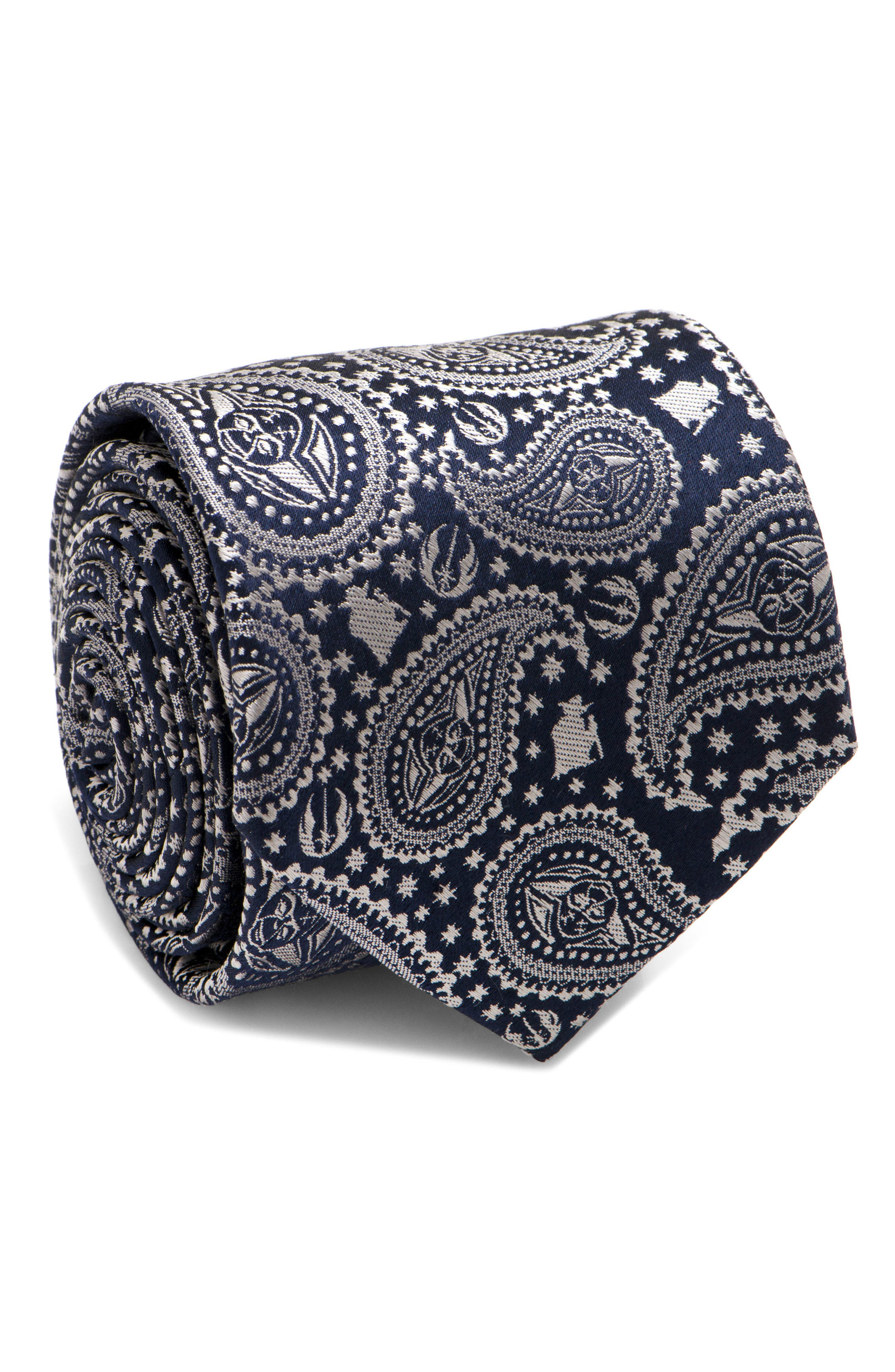 Yoda Silk Tie,                         Main,                         color, Navy