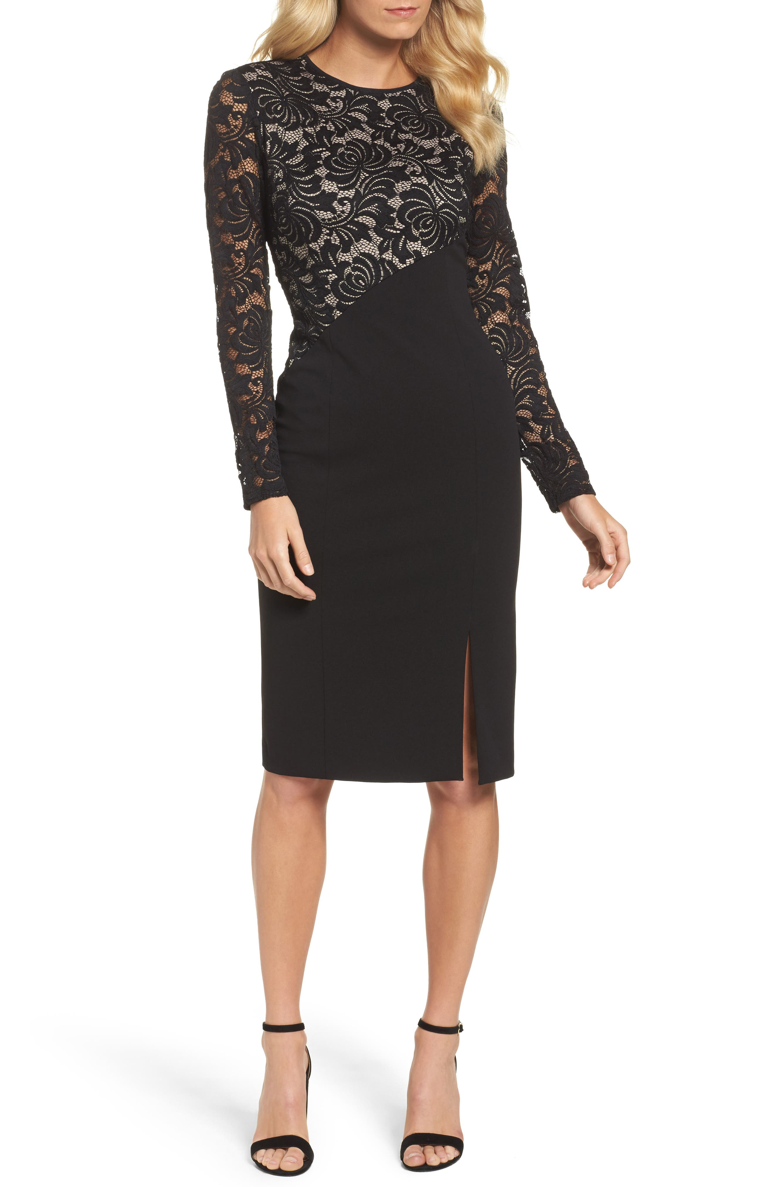 Maggy london beaded lace dress