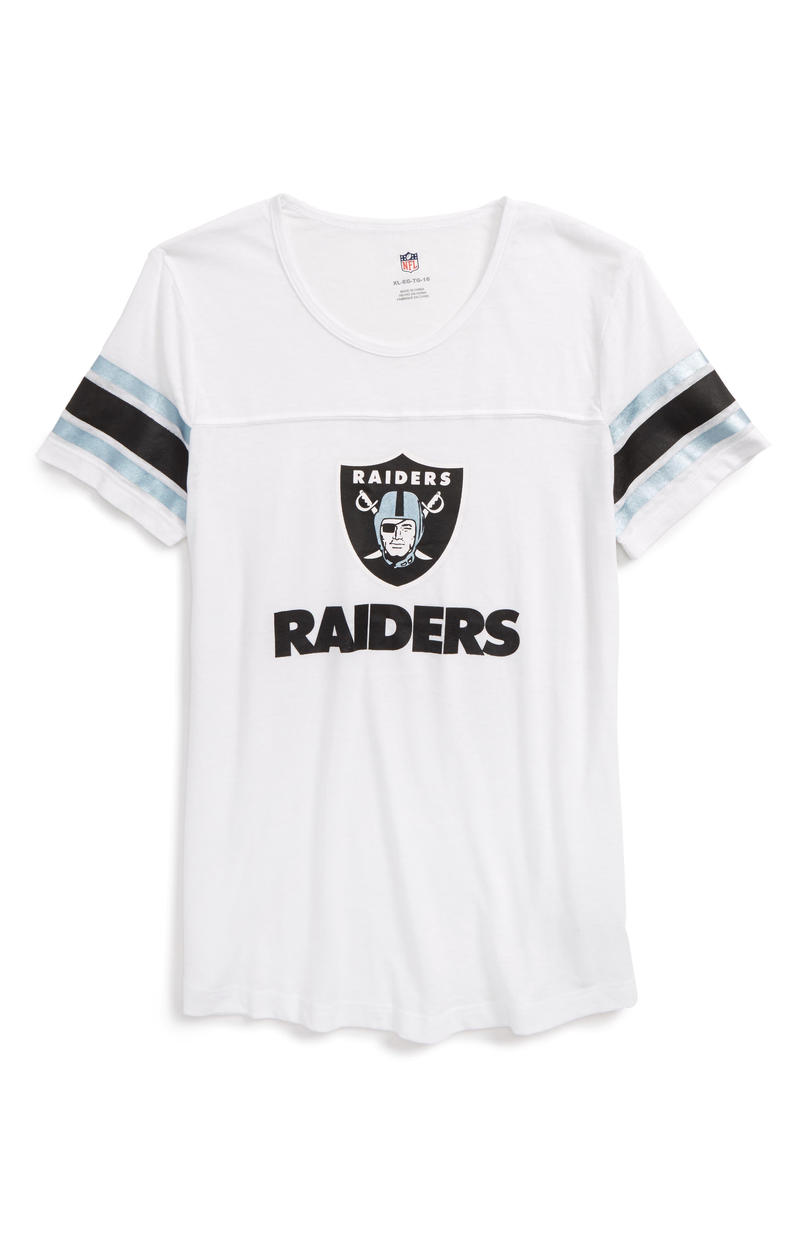 Main Image - Outerstuff NFL Oakland Raiders Team Pride Tee (Big Girls)