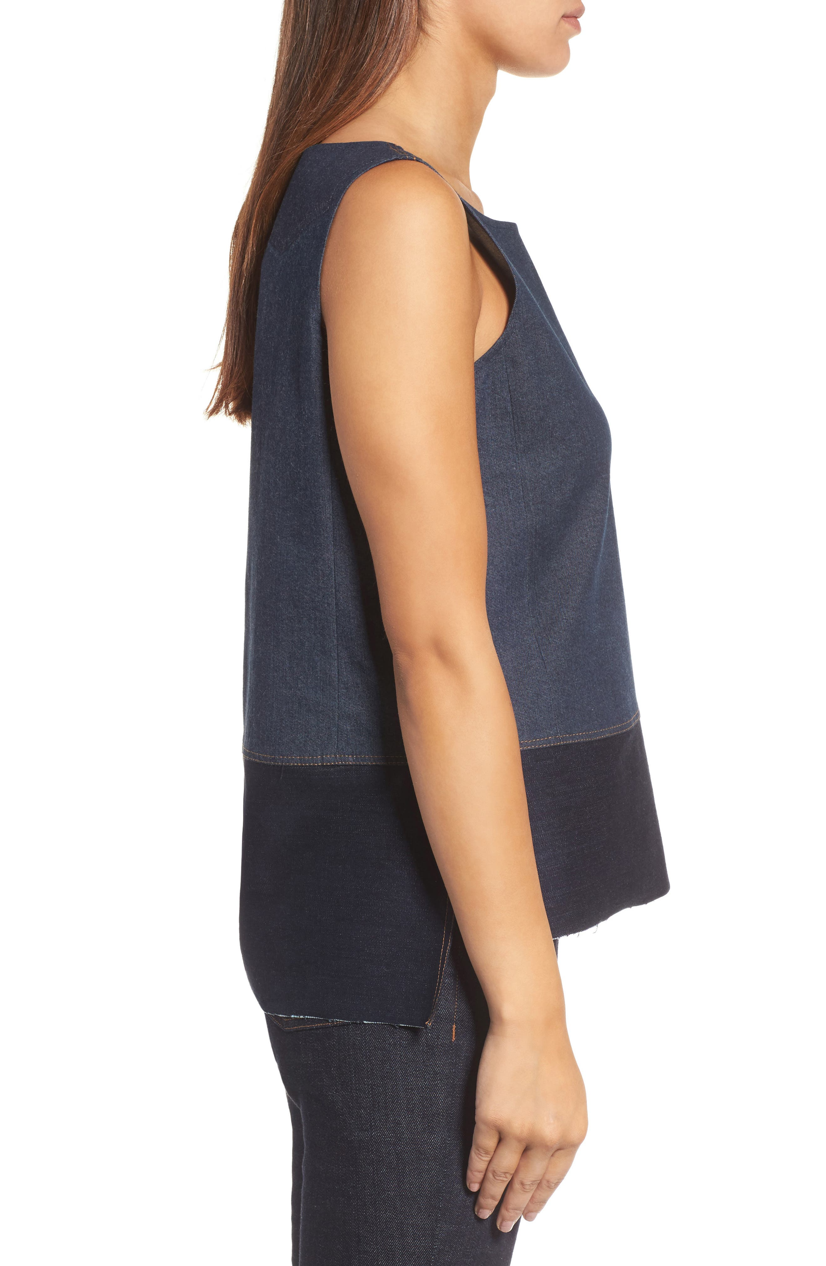 Alternate Image 3  - Eilen Fisher Denim Shell (Nordstrom Exclusive)