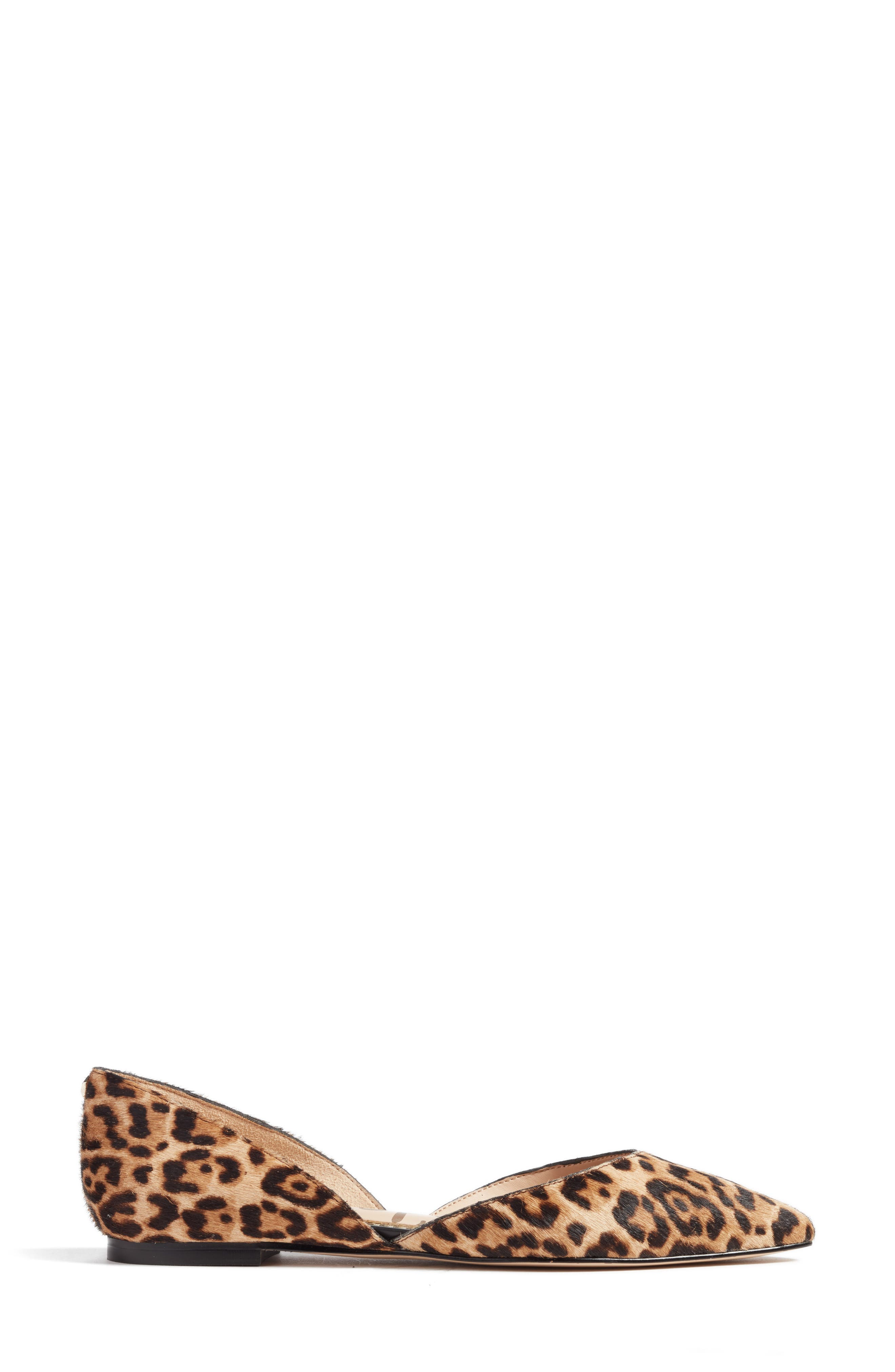 Rodney Pointy Toe Genuine Calf Hair Flat,                             Alternate thumbnail 3, color,                             Sand Leopard Calf Hair