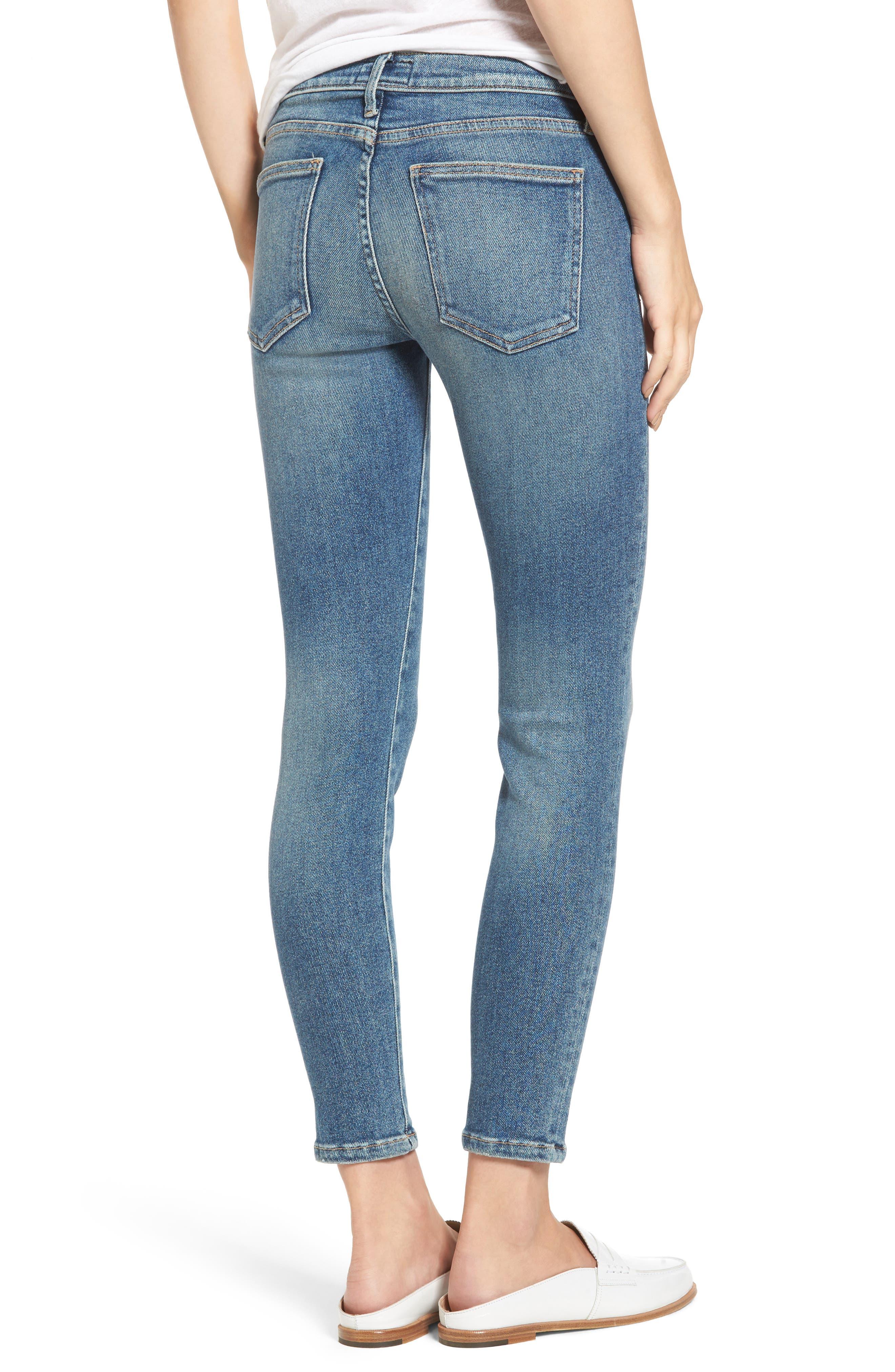 Alternate Image 2  - Current/Elliott The Stiletto Ankle Skinny Jeans (Ashurst)