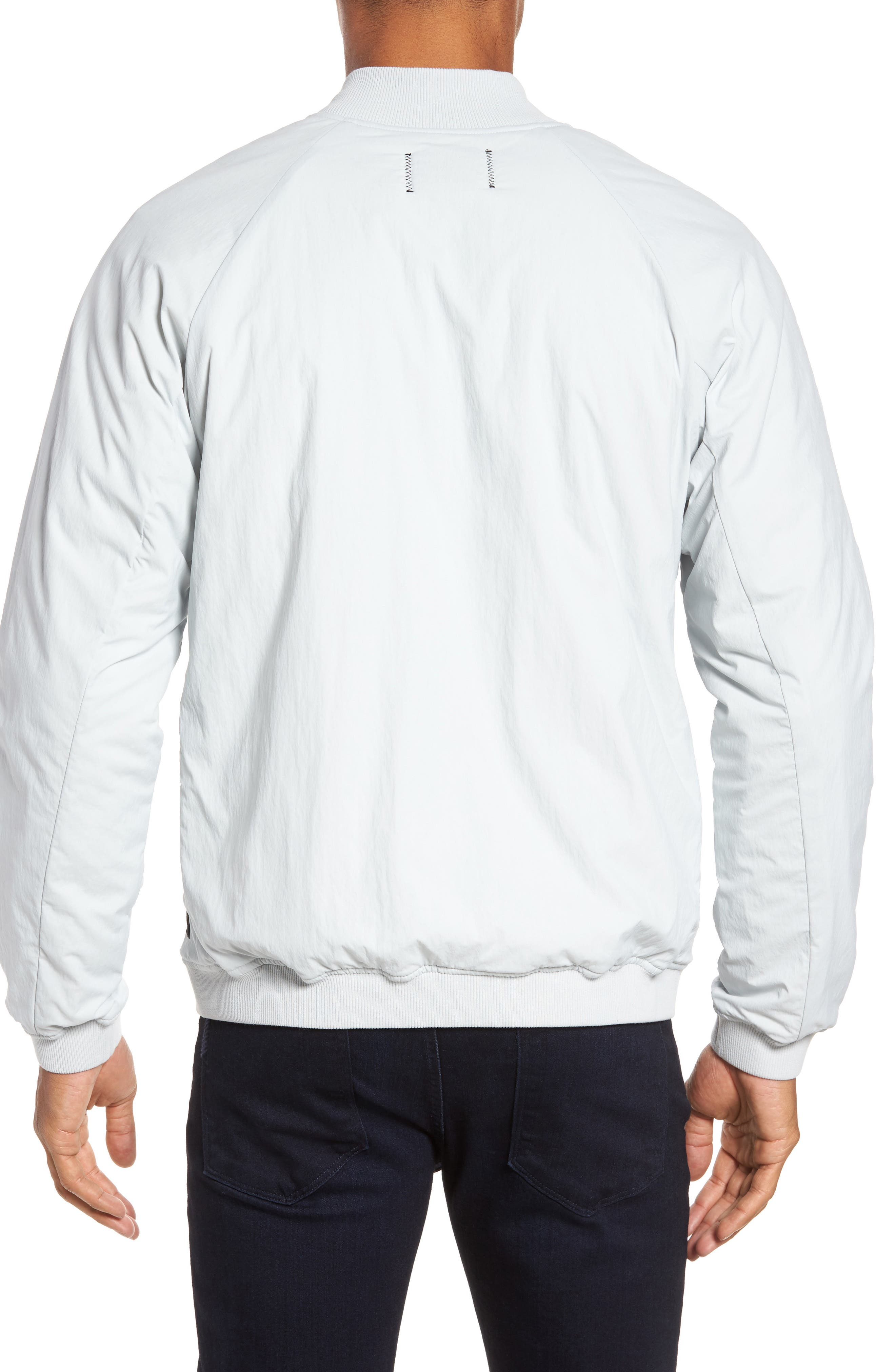 Insulated Bomber Jacket,                             Alternate thumbnail 2, color,                             Sky Grey