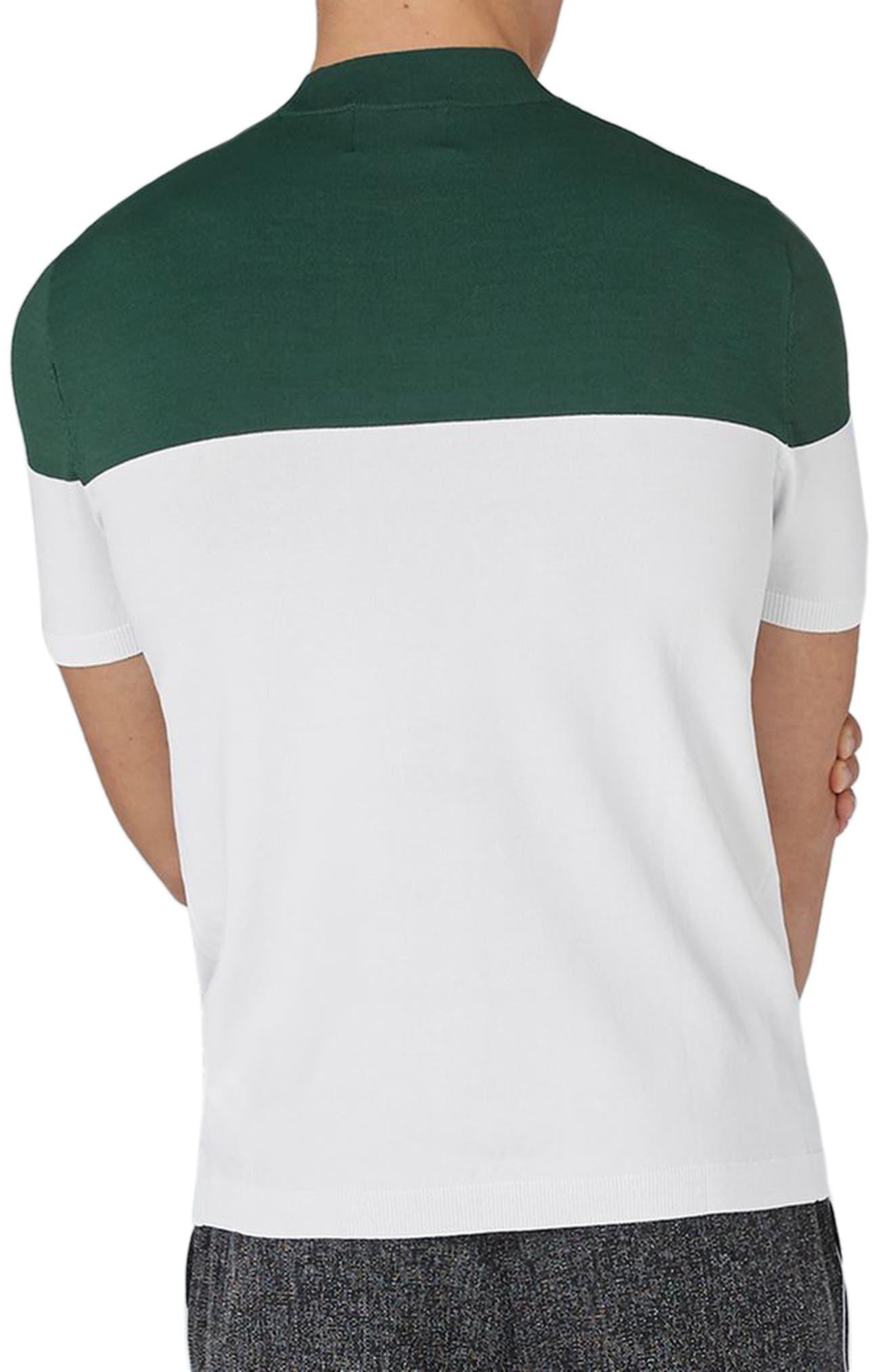 Colorblock Mock Neck Sweater,                             Alternate thumbnail 2, color,                             Green Multi