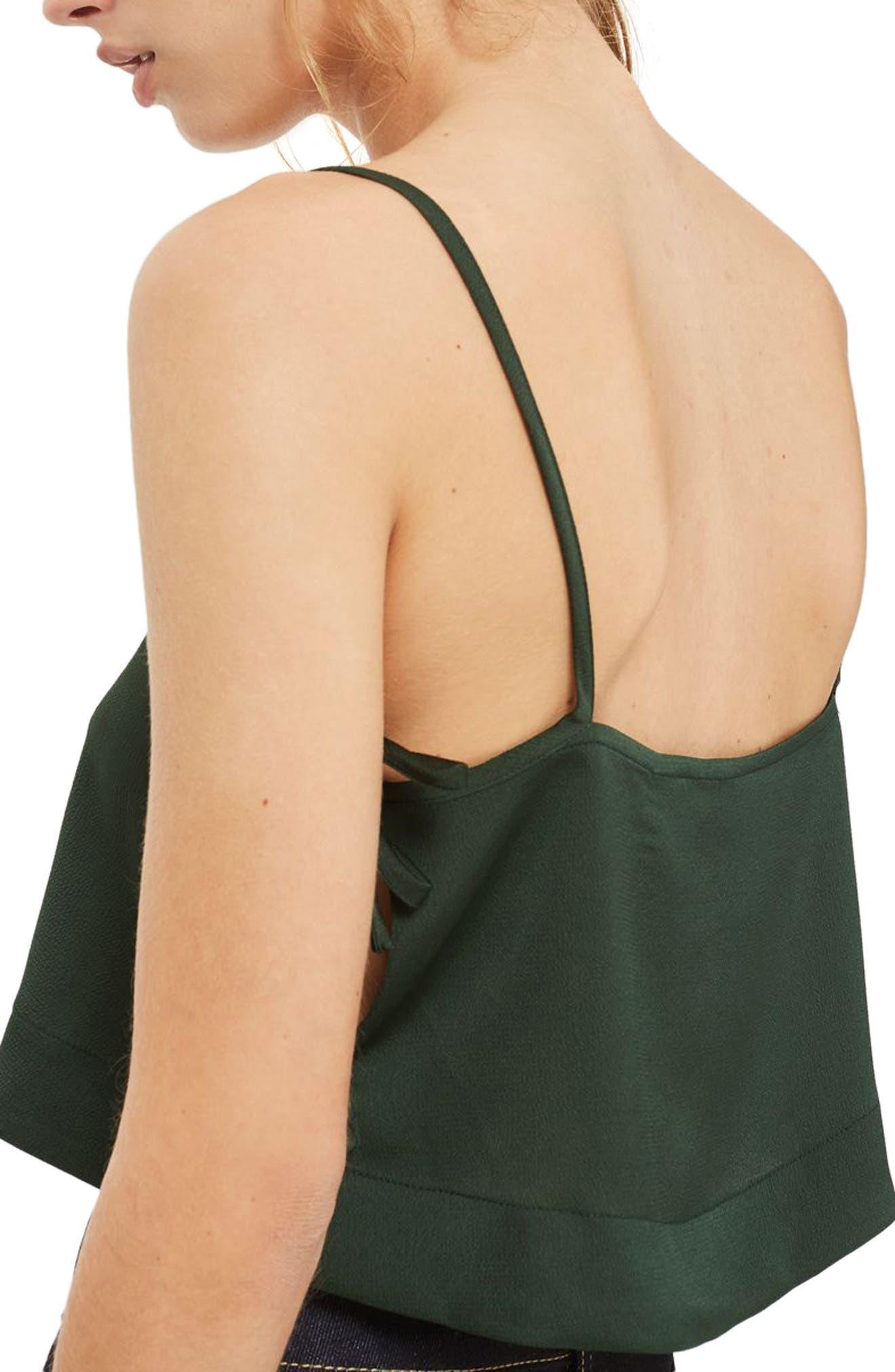 Alternate Image 2  - Topshop Side Tie Crop Camisole