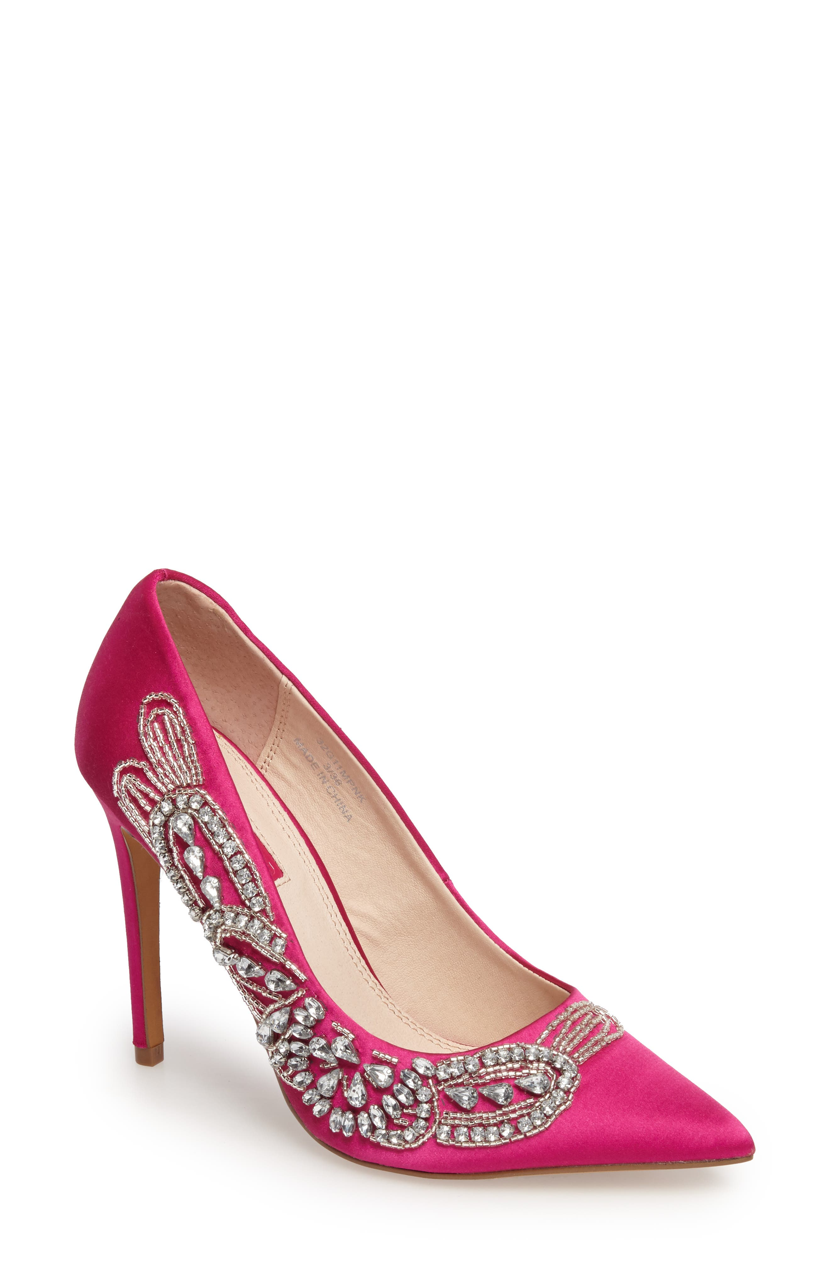 April Embellished Pump,                             Main thumbnail 1, color,                             Pink Multi
