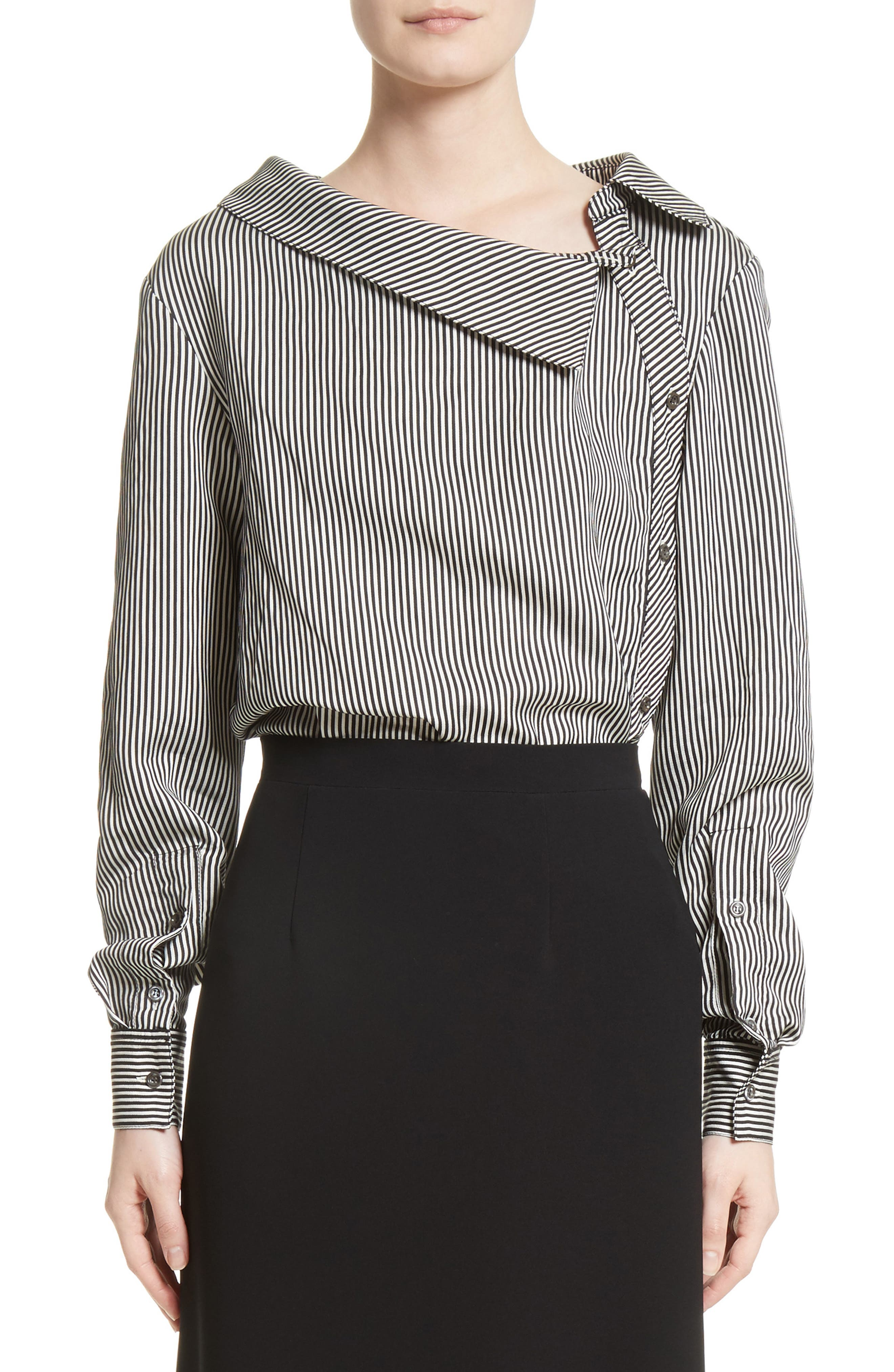 Alternate Image 1 Selected - Altuzarra Asymmetrical Pinstripe Shirt