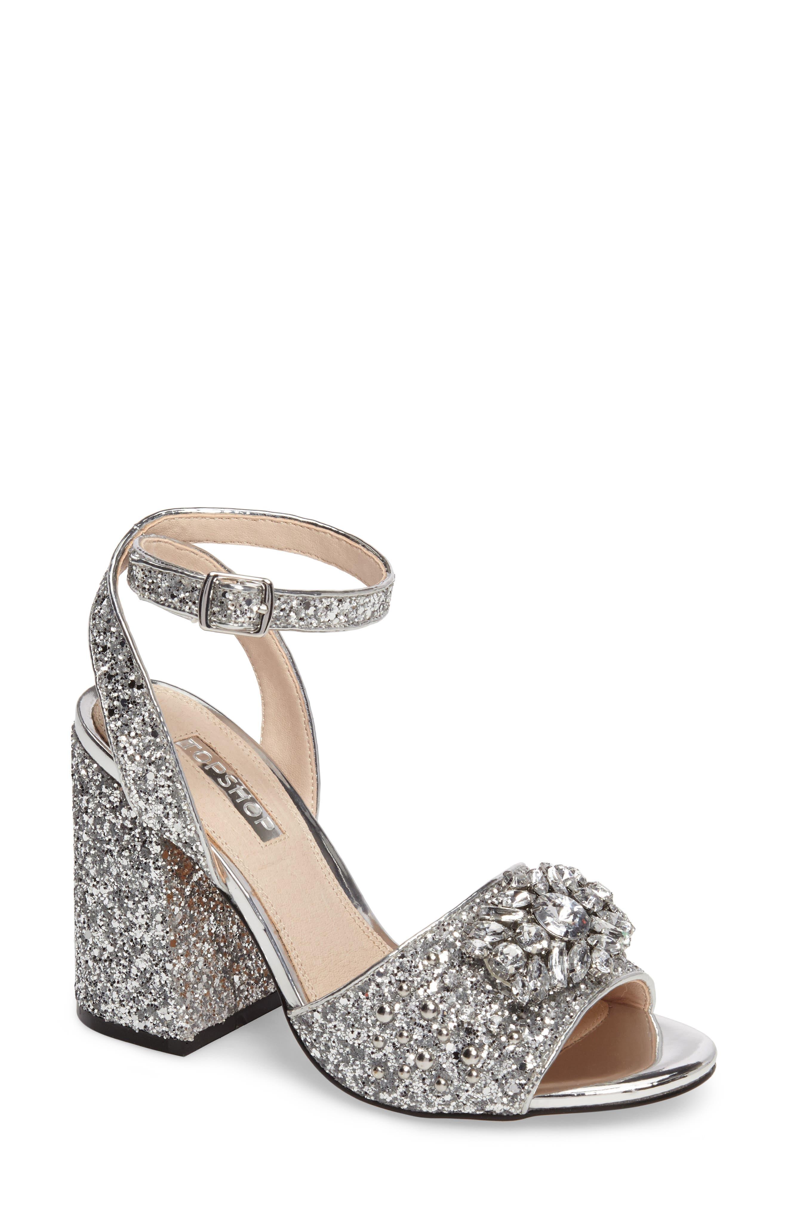 Topshop Razzle Embellished Sandal (Women)