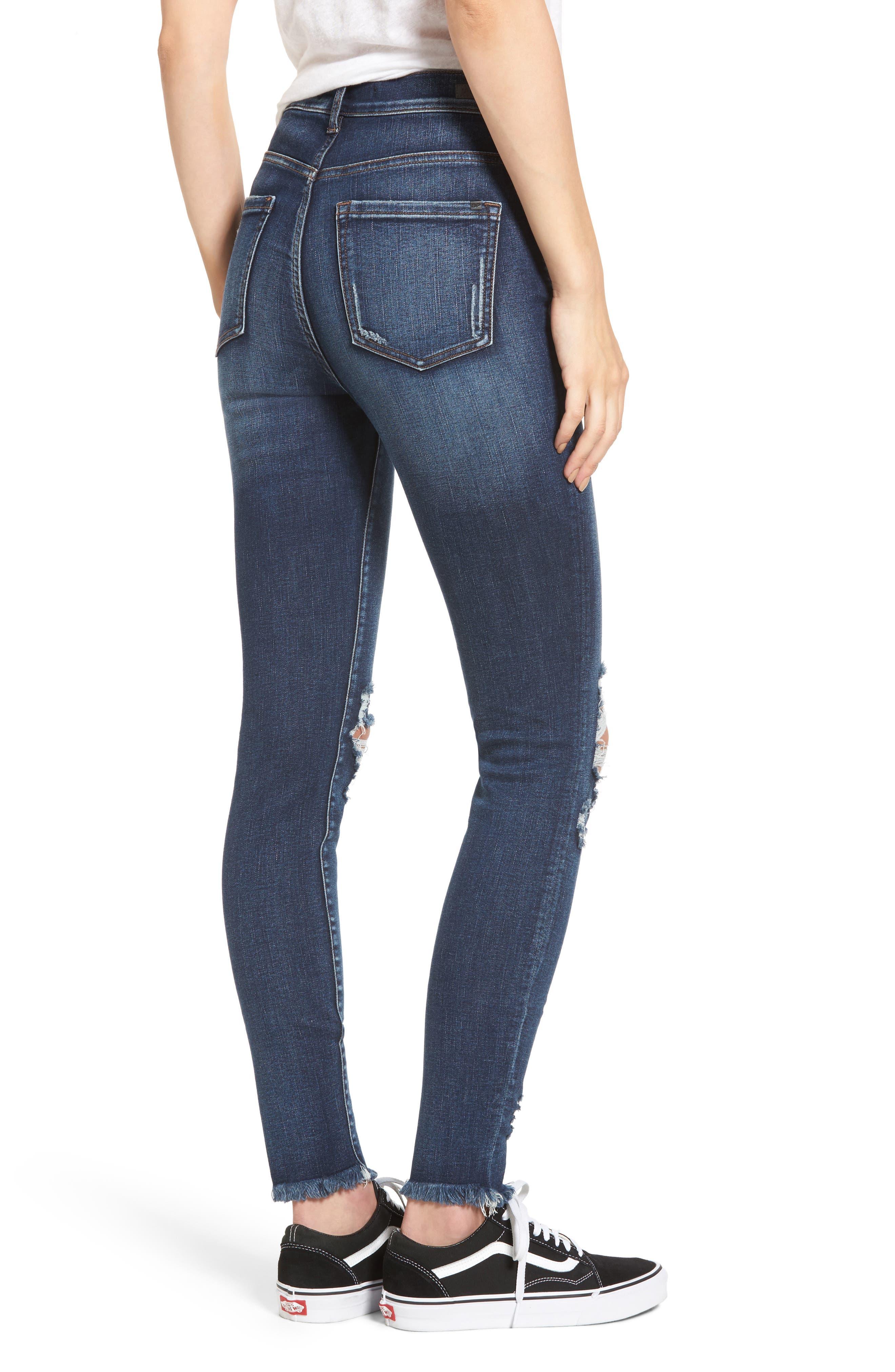 Alternate Image 2  - SP Black Distressed High Waist Skinny Jeans