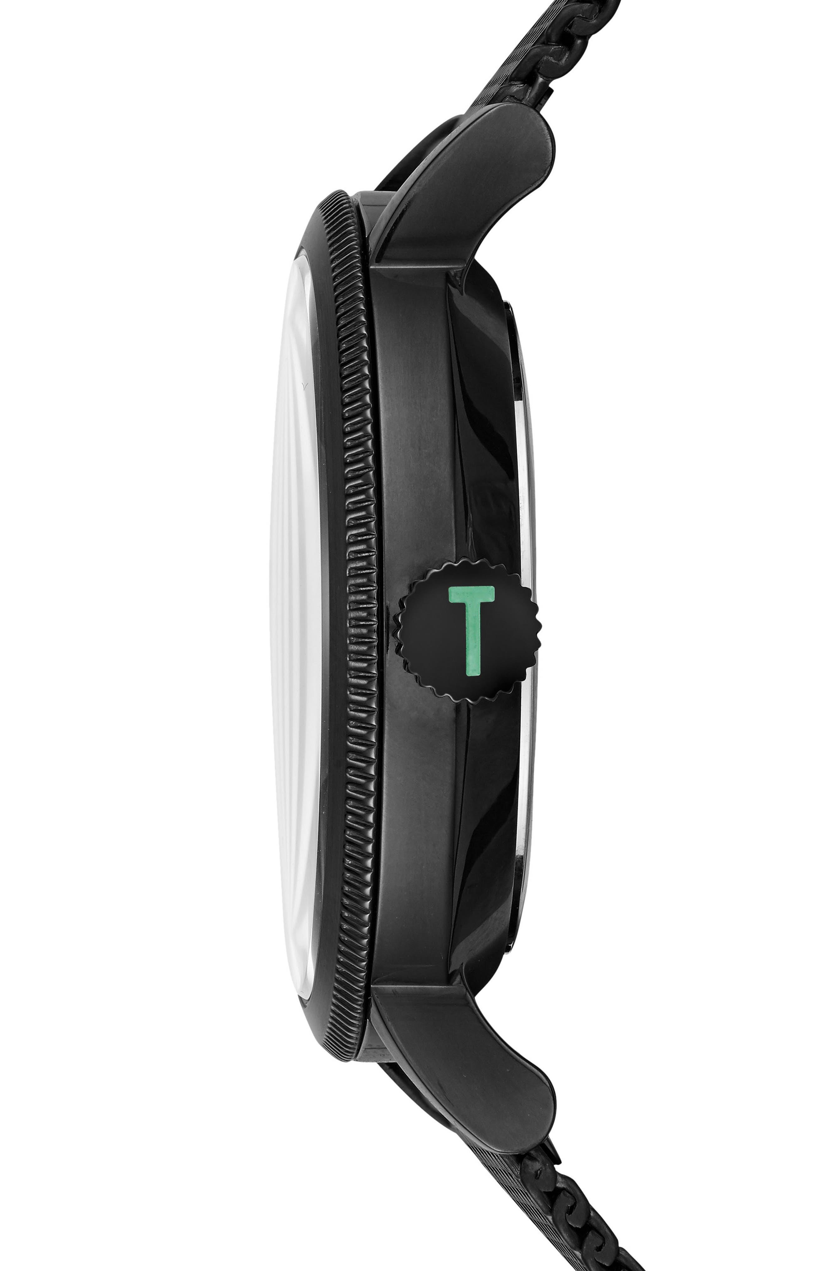 Alternate Image 3  - Ted Baker London Connor Mesh Bracelet Watch, 42mm