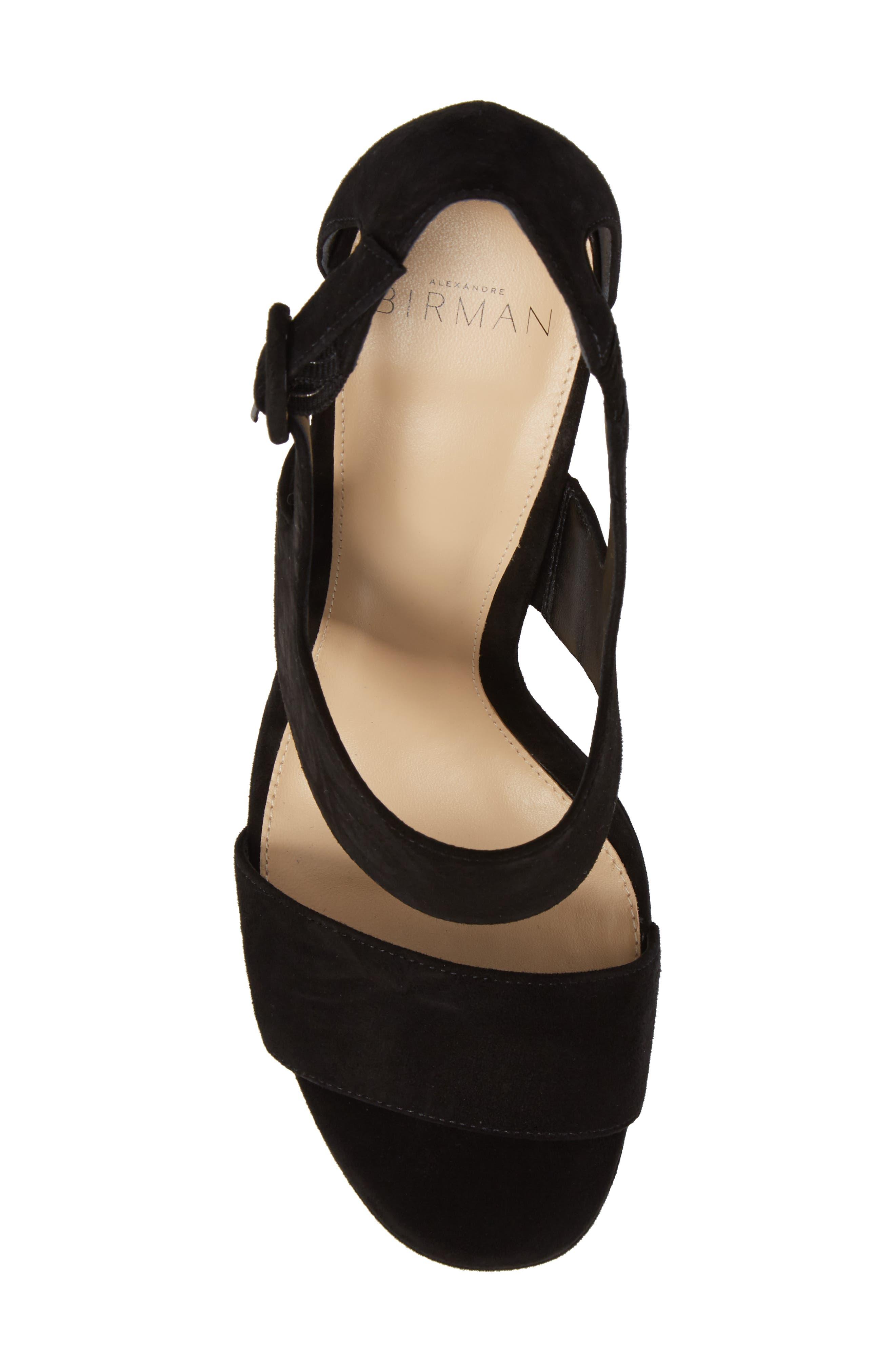 Elouise Platform Sandal,                             Alternate thumbnail 5, color,                             Black