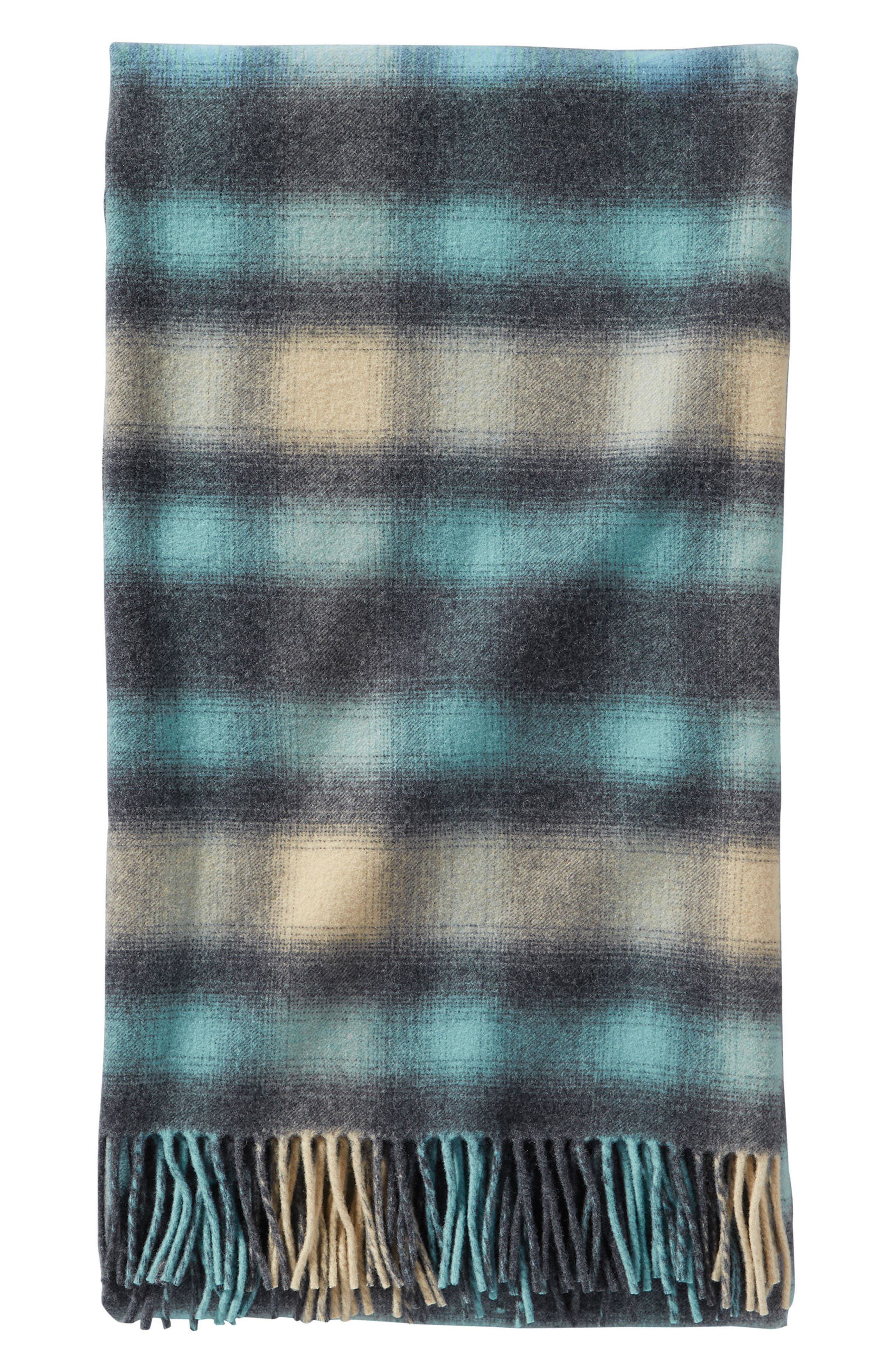Fifth Ave Wool Throw,                         Main,                         color, Ocean Ombre