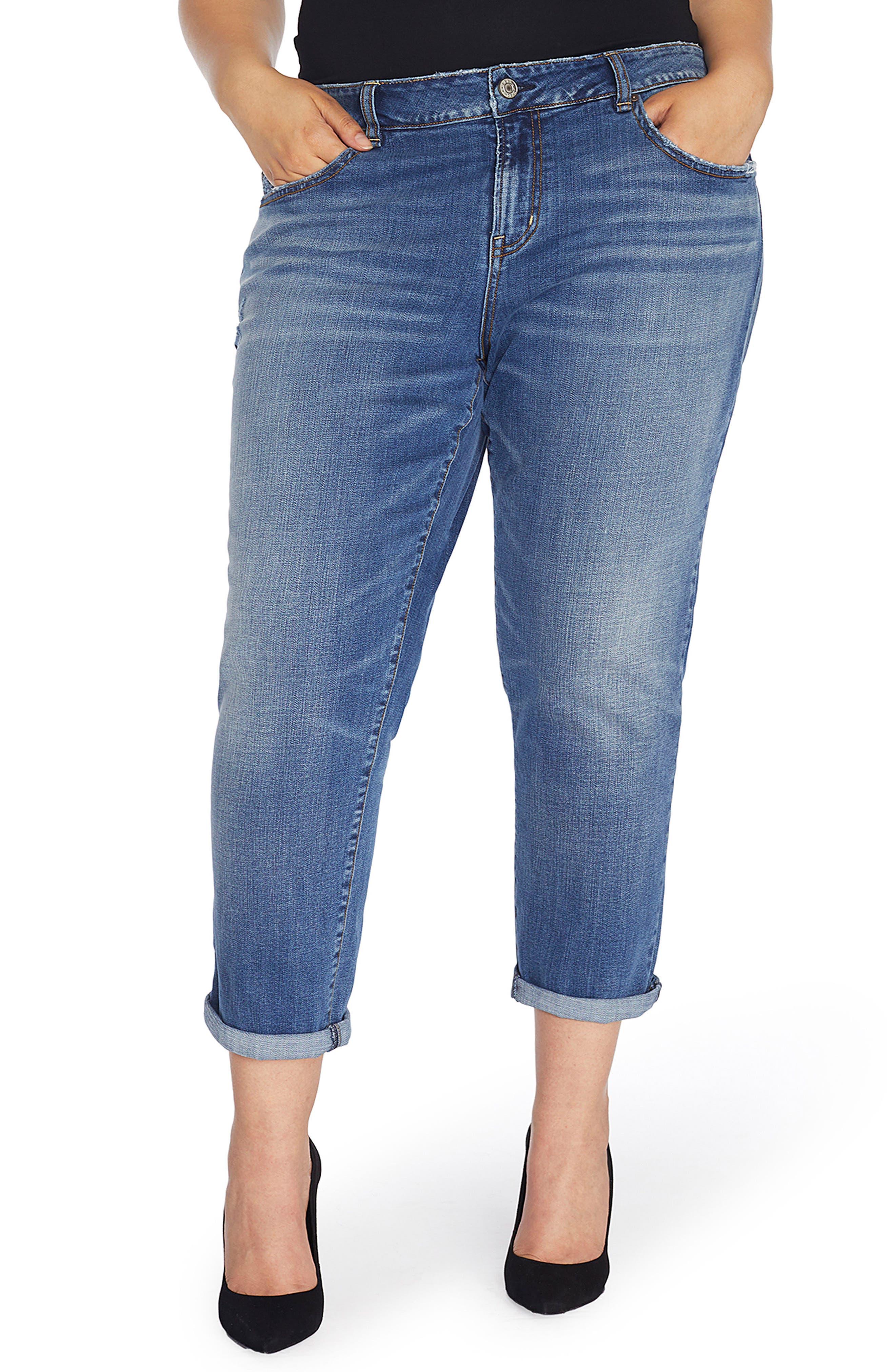 Alternate Image 1 Selected - Rebel Wilson x Angels The Ryot Slim Boyfriend Jeans (Plus Size)