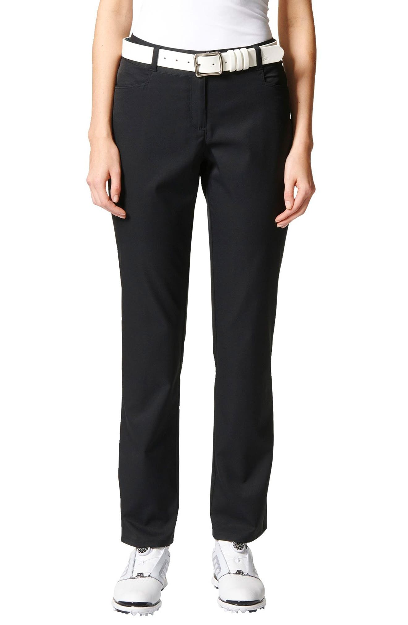 Full Length Golf Pants,                         Main,                         color, Black