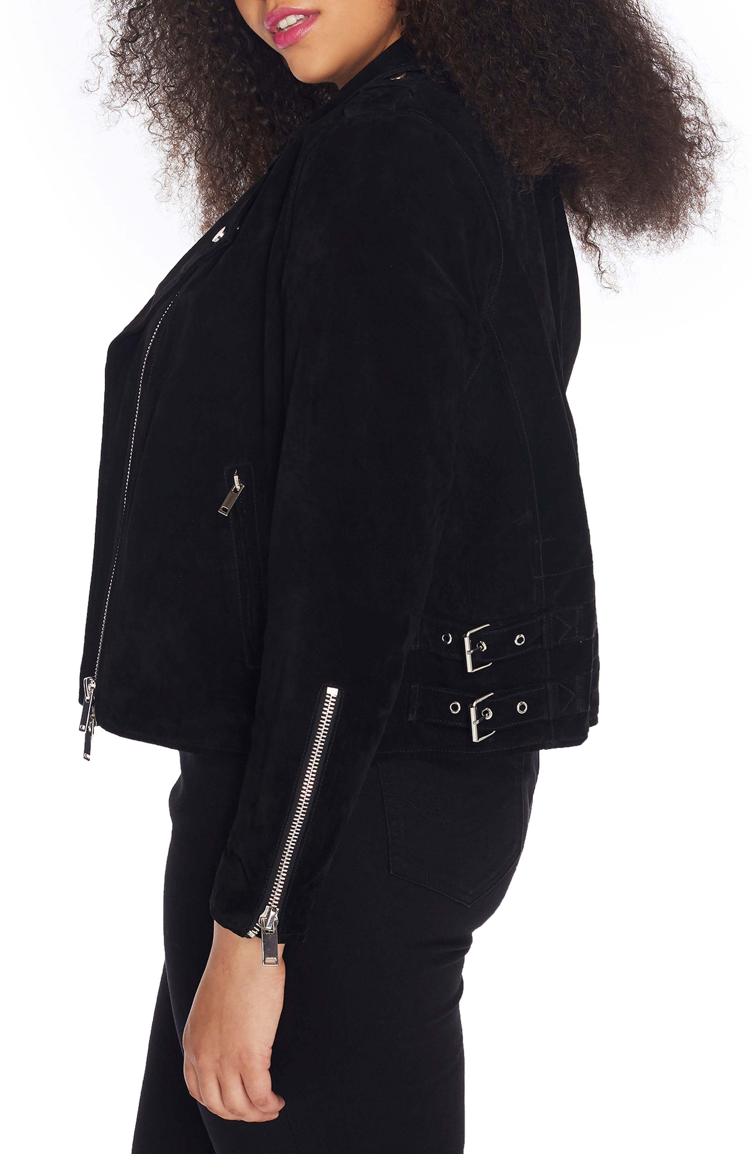Alternate Image 3  - Rebel Wilson x Angels Suede Moto Jacket (Plus Size)