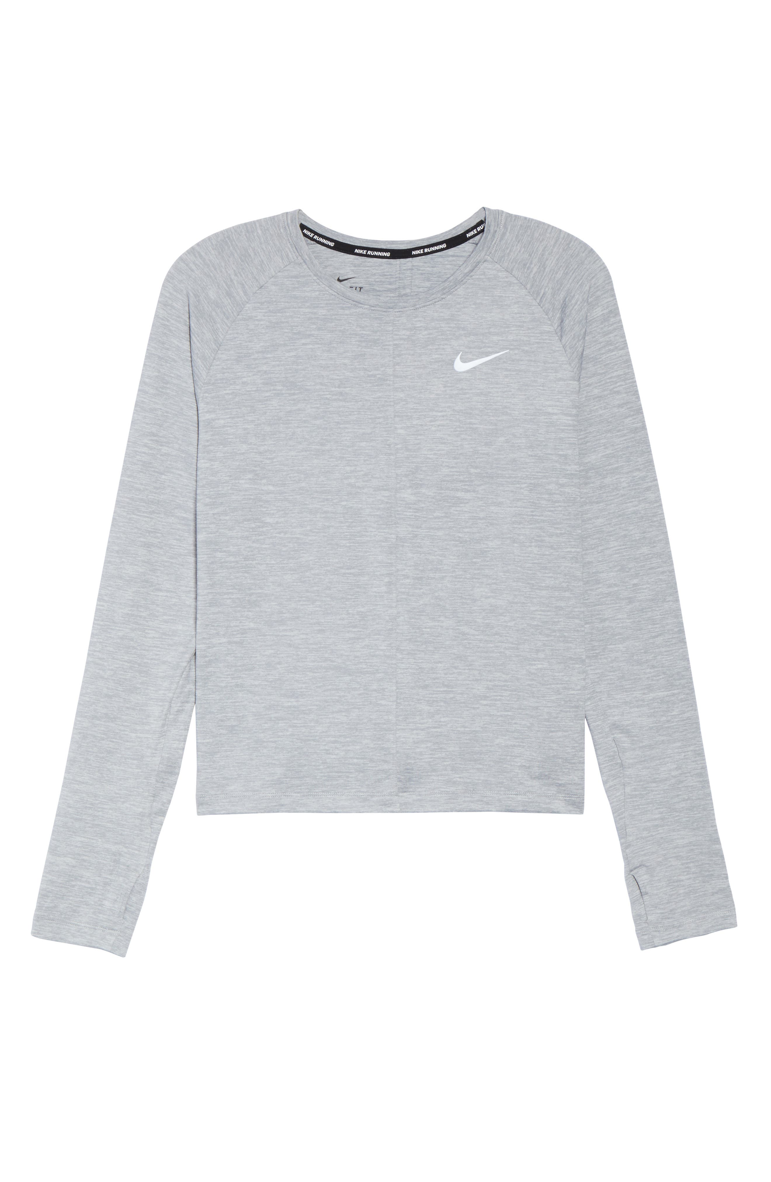 Dry Element Crop Top,                             Alternate thumbnail 7, color,                             Wolf Grey/ Heather