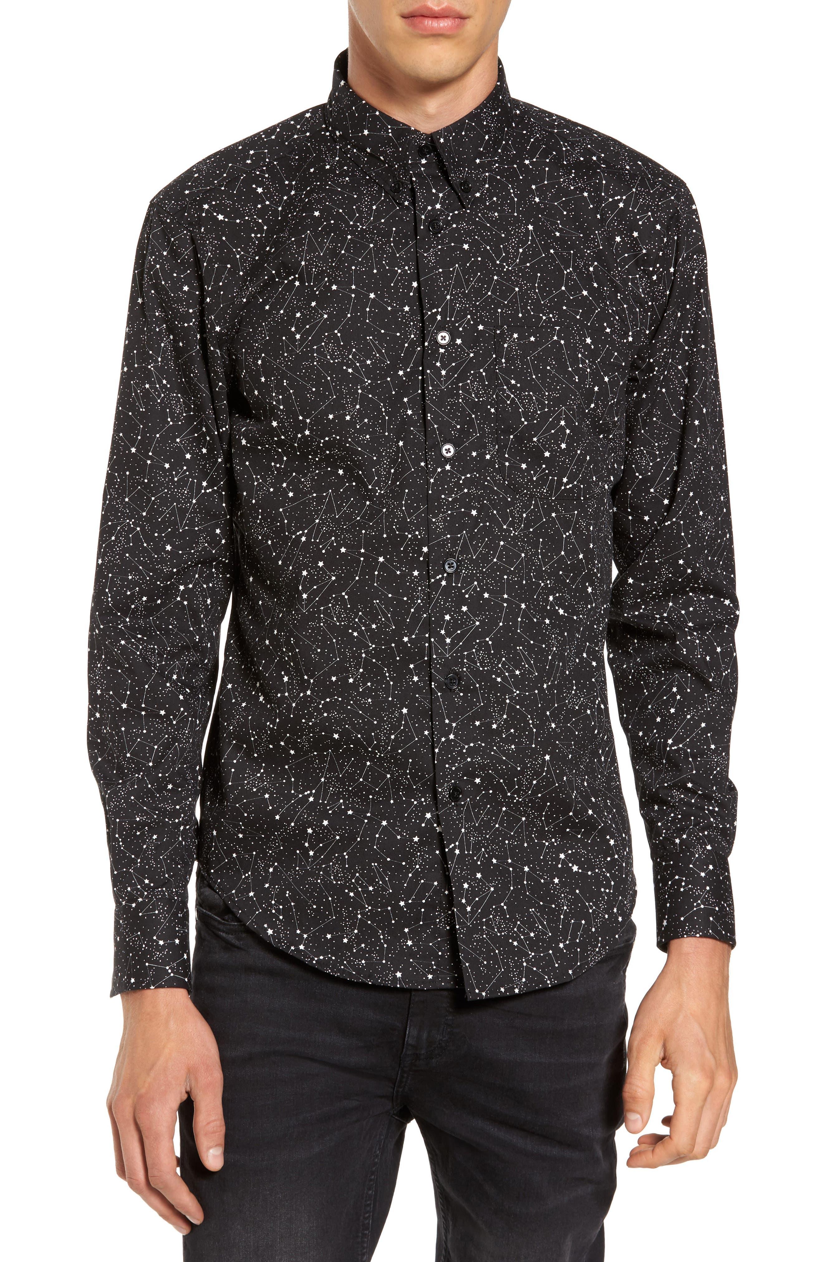 Constellations Shirt,                             Main thumbnail 1, color,                             Black