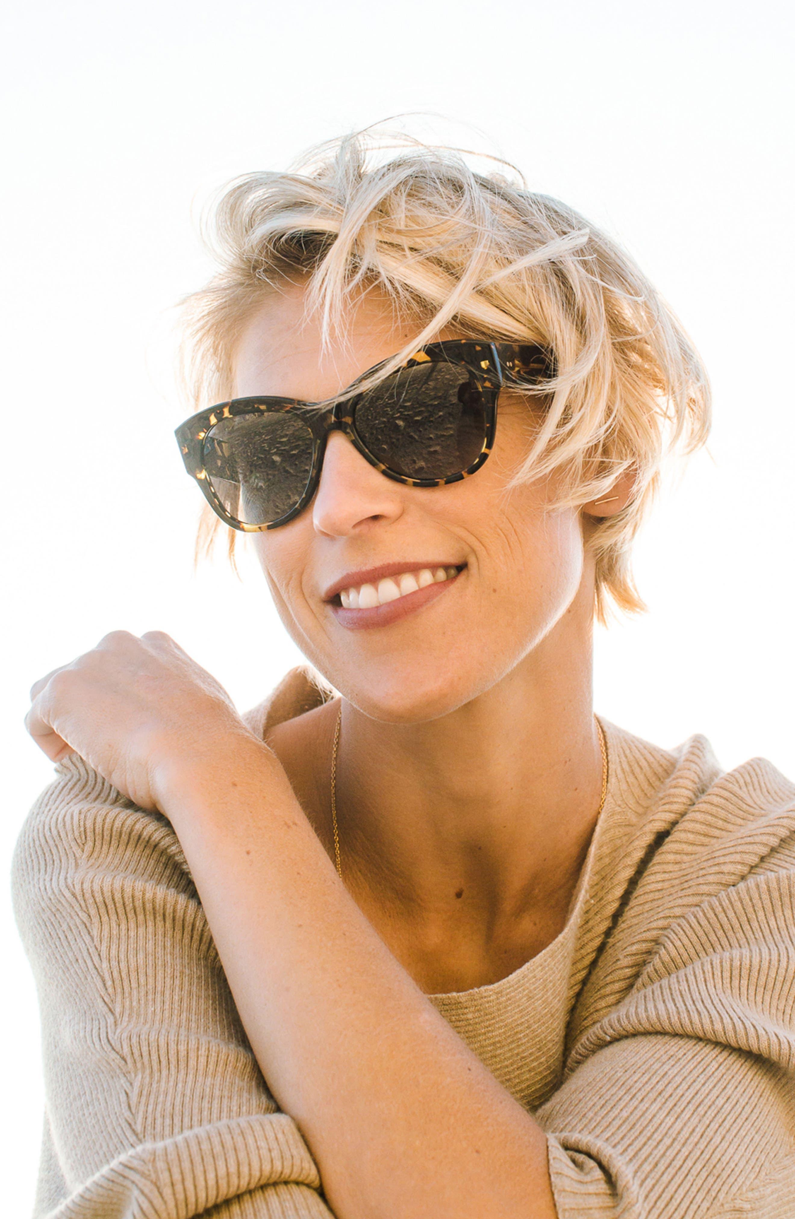 Hammen 54mm Polarized Cat Eye Sunglasses,                             Alternate thumbnail 4, color,