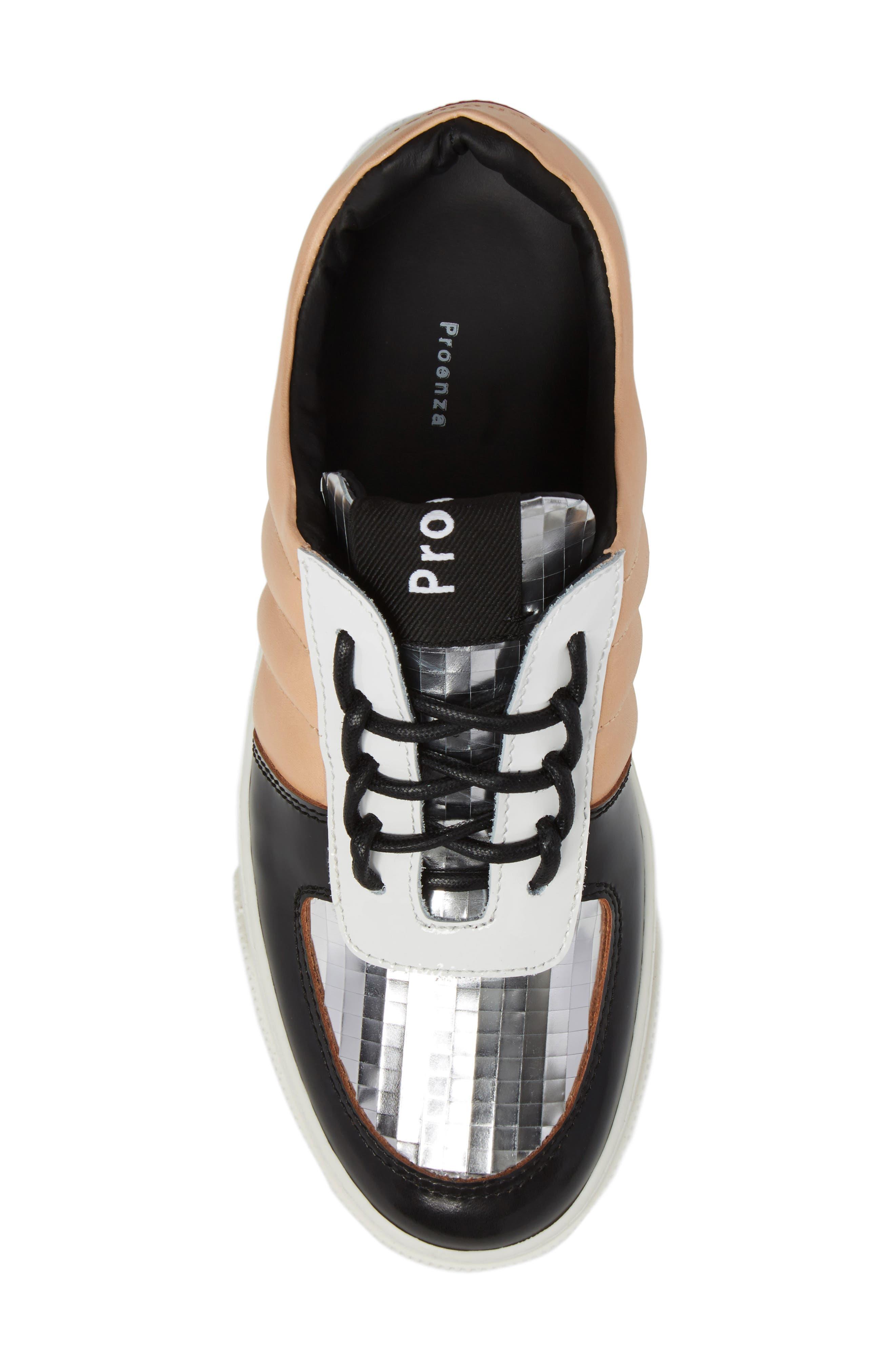 Sneaker,                             Alternate thumbnail 5, color,                             Beige/ Silver