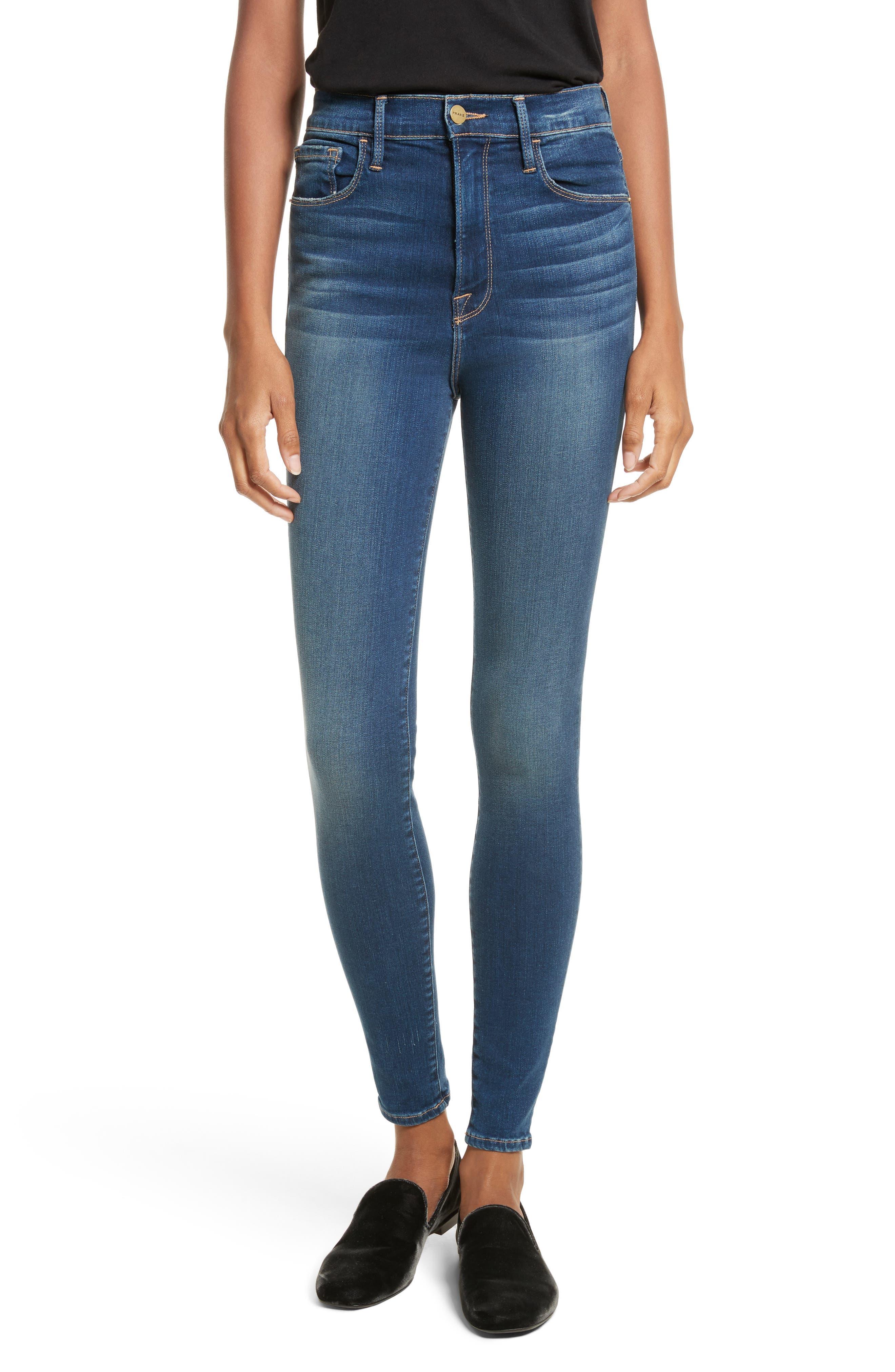 FRAME Ali High Waist Skinny Jeans (Dumont)
