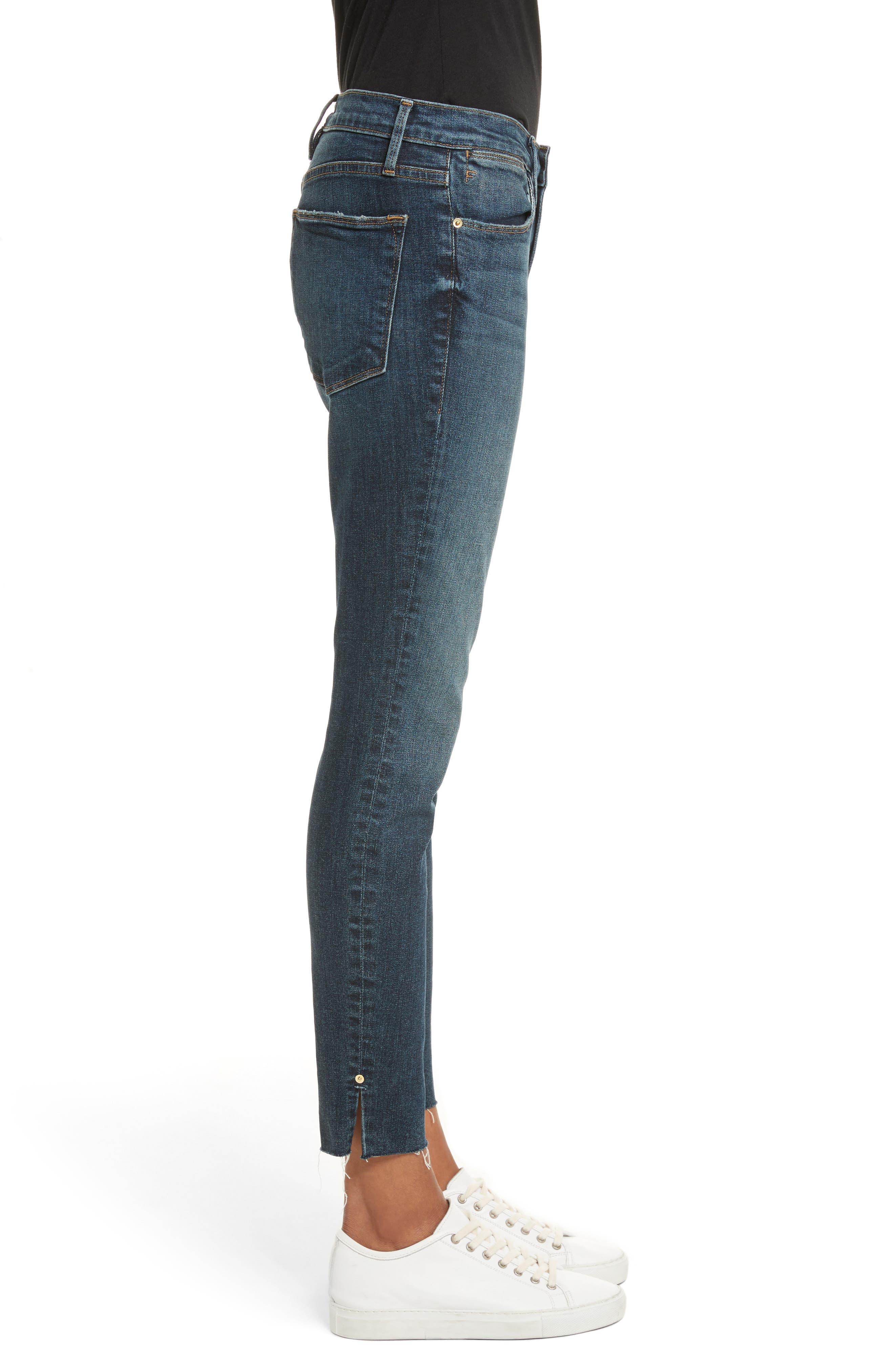 Le High Slit Ankle Skinny Jeans,                             Alternate thumbnail 3, color,                             Pelton